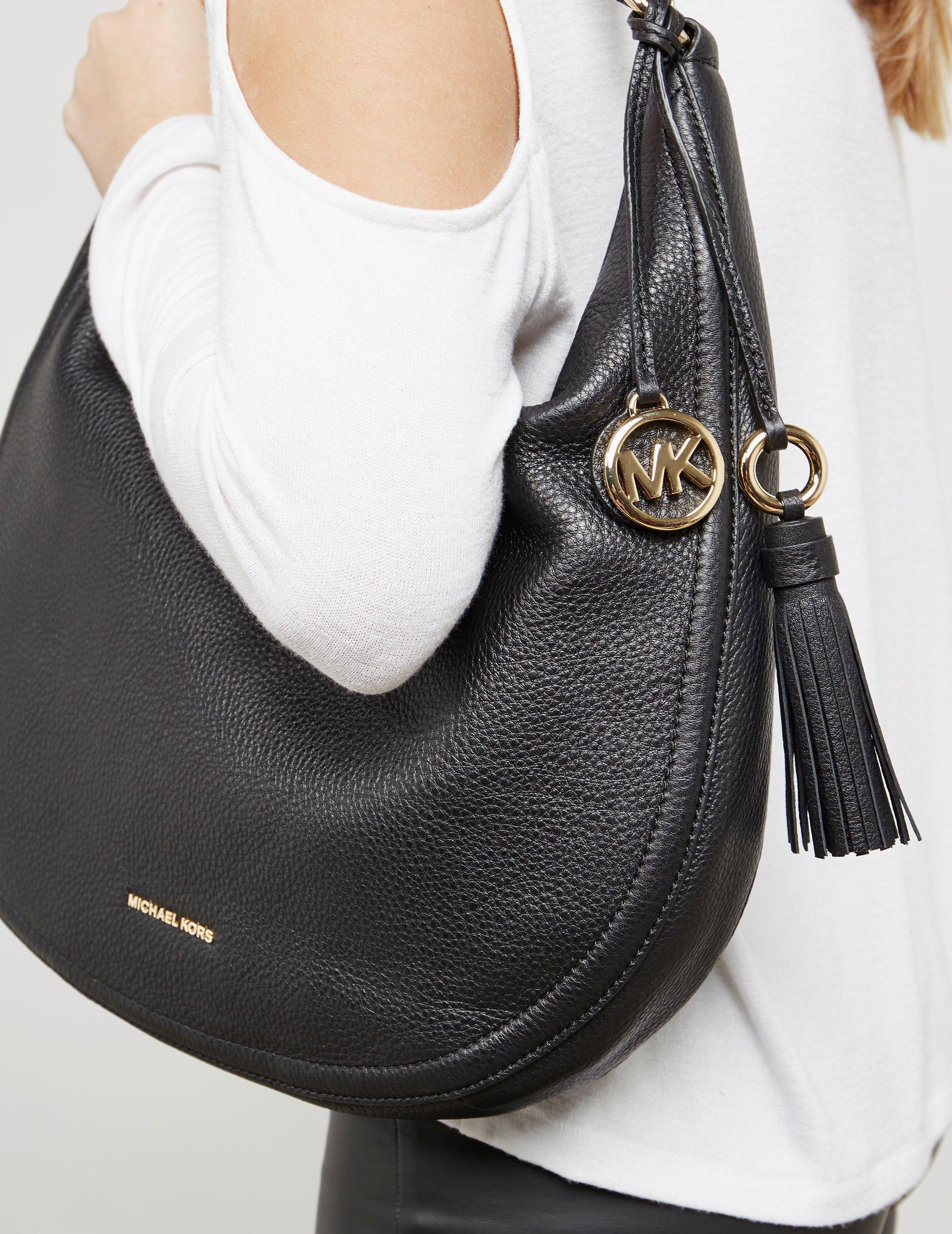 Lyst - Michael Kors Womens Lydia Hobo Shopper Bag Black in Black dca1eebd539d5