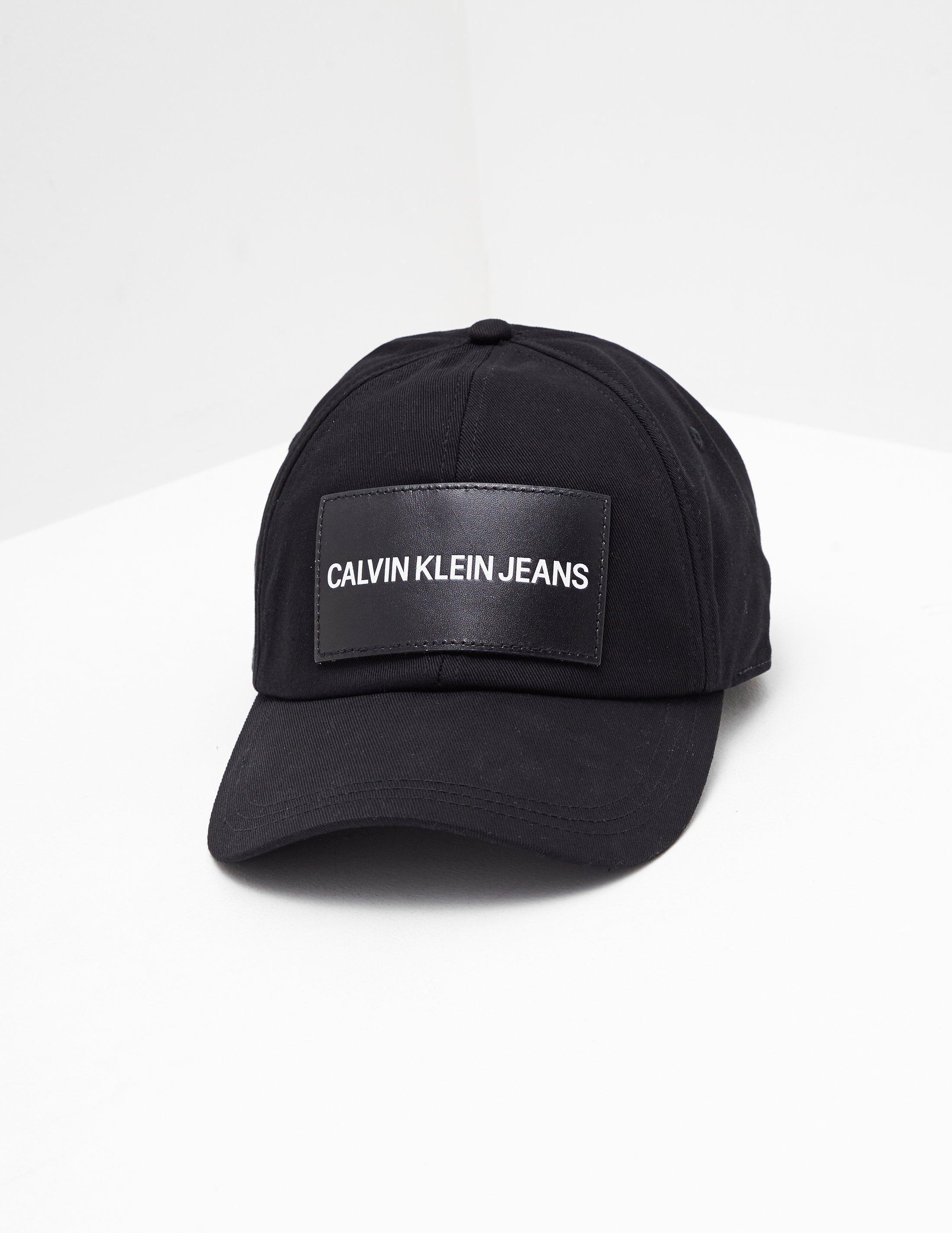 33508ca93e801 Lyst - CALVIN KLEIN 205W39NYC Womens Patch Logo Cap Black in Black