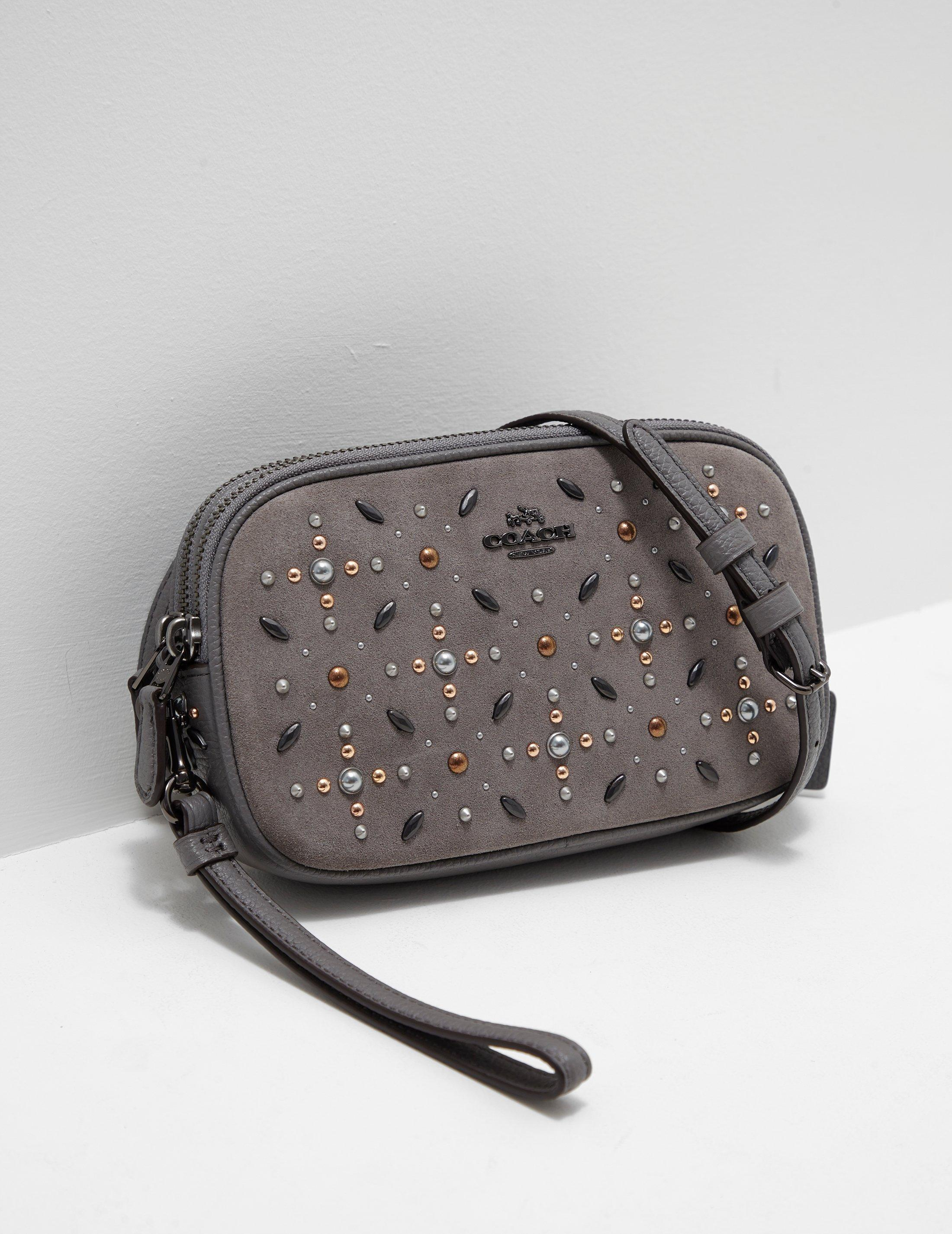 280416aae3d Coach Womens Embellished Crossbody Bag - Online Exclusive Grey in ...