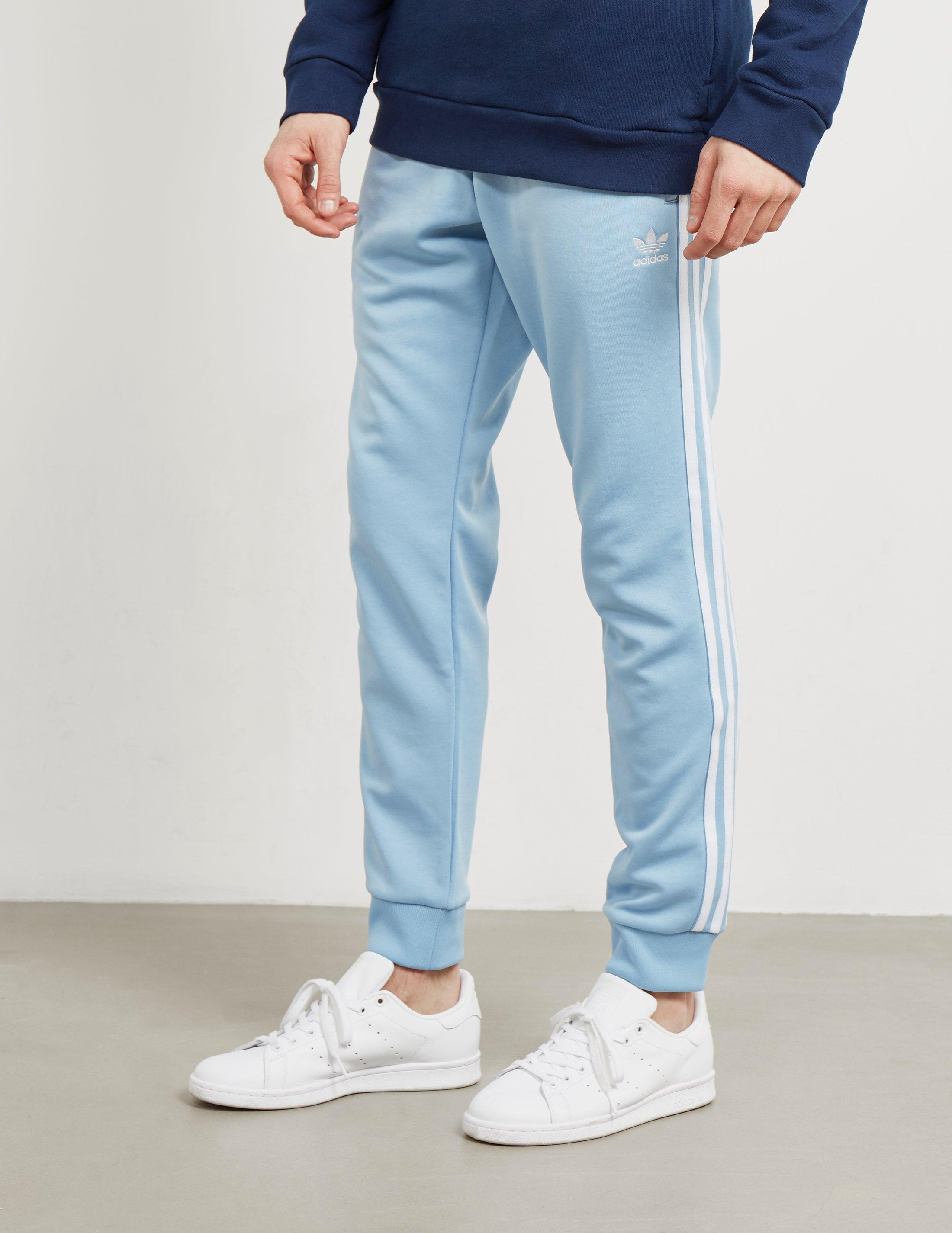 349967ed4d11 Lyst - adidas Originals Mens Superstar Track Pants Ash Blue in Blue ...