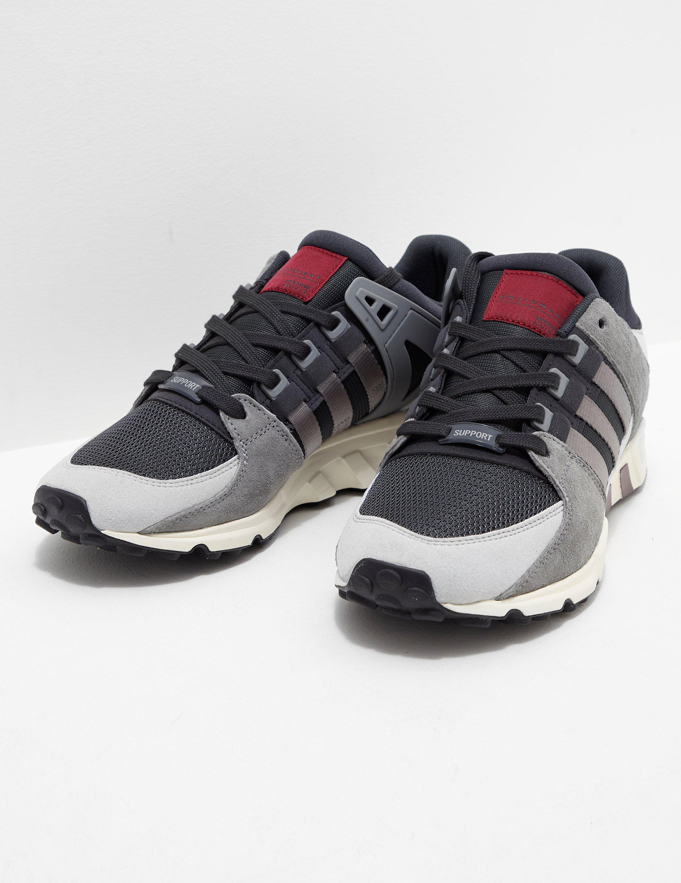 5e5834a6 adidas Originals Mens Eqt Running Support Rf Carbon/grey in Gray for ...