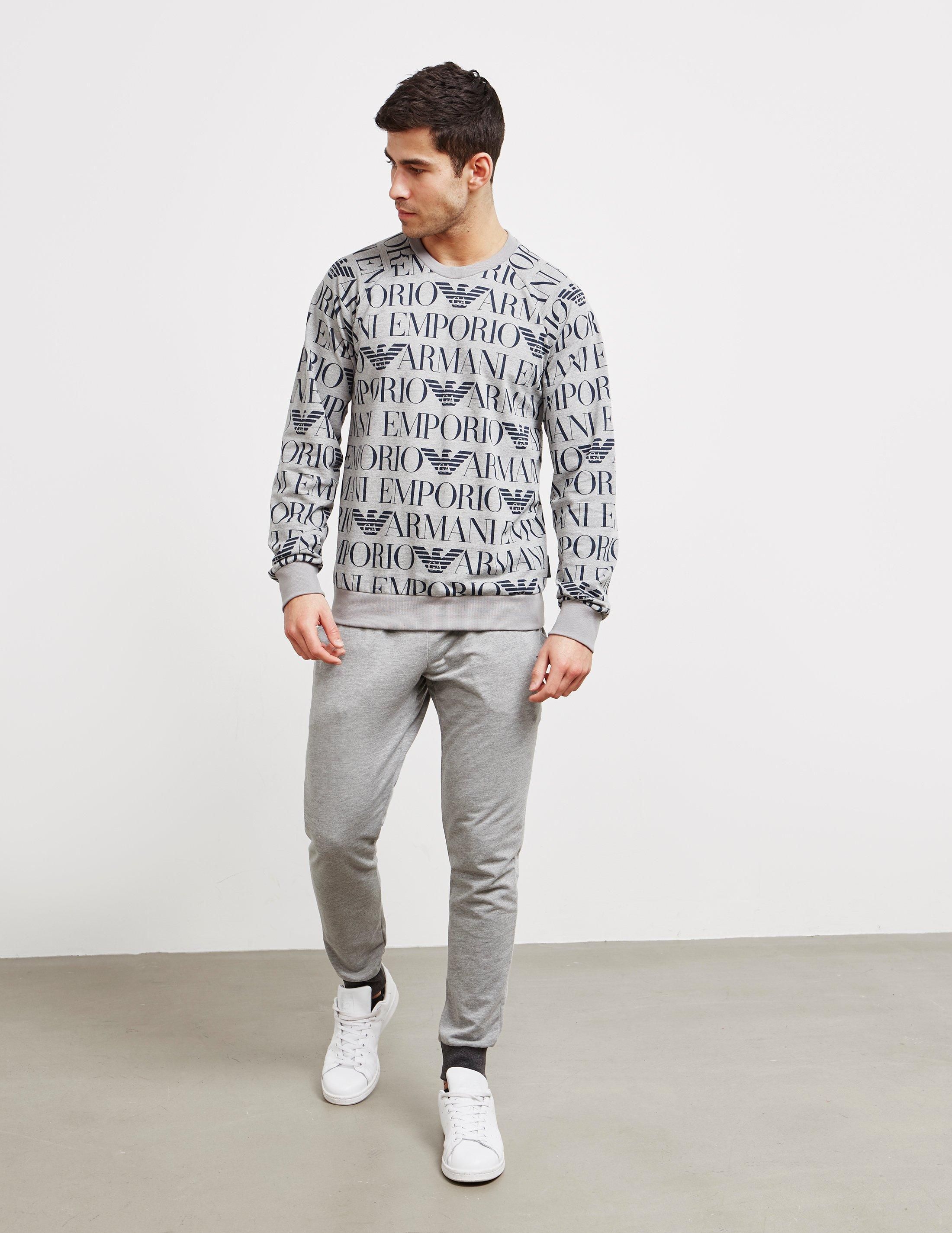 39b15b7e549 Lyst - Emporio Armani Logo Mania Sweatshirt in Gray for Men
