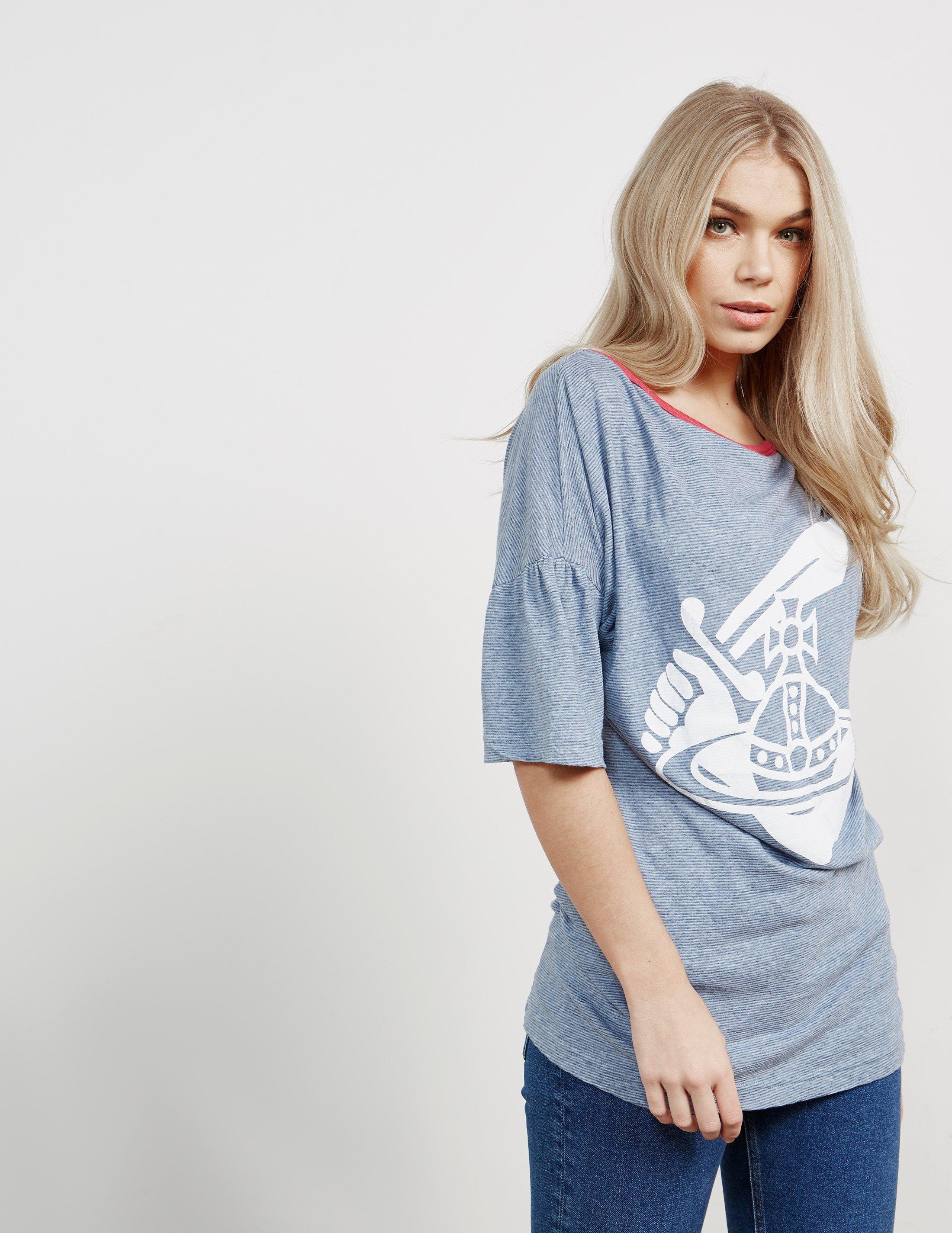 0e885fc09 Vivienne Westwood - Anglomania Midling Orb Short Sleeve T-shirt Blue -  Lyst. View fullscreen