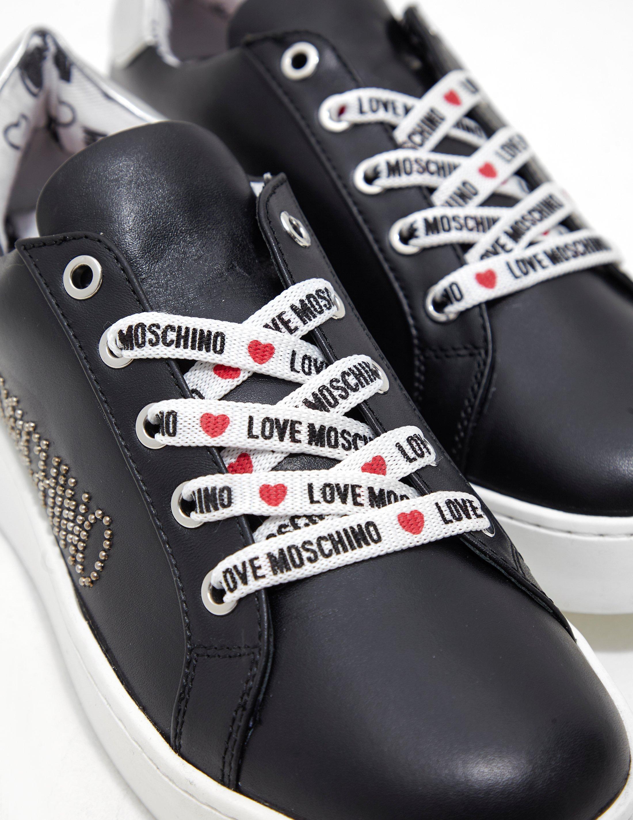 ddab11cf619 Lyst - Love Moschino Scarpad.cassetta35 Gymnastics Shoes in Black