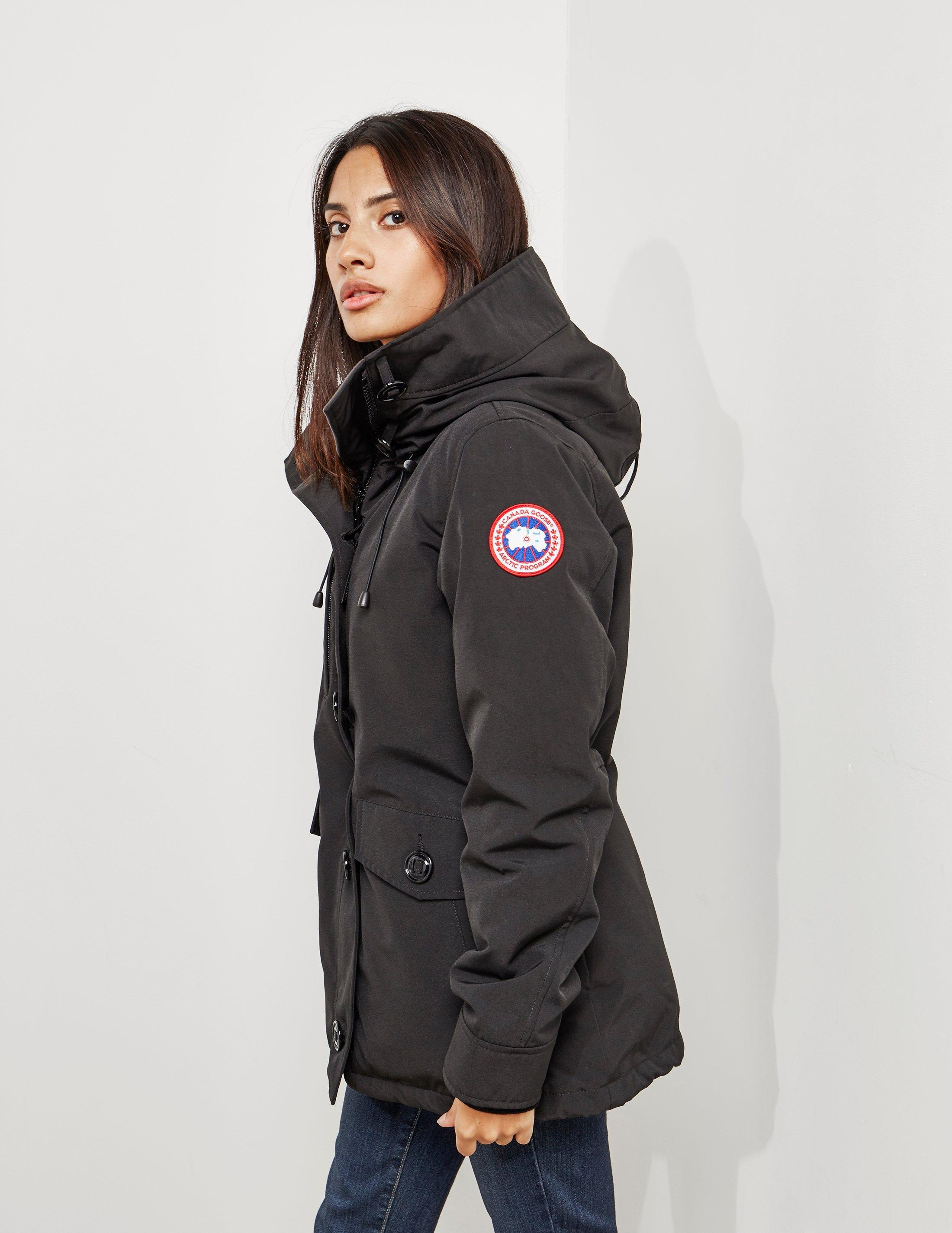 a598b38064e ... shopping lyst canada goose womens rideau padded parka jacket black in  black 9e867 bc667