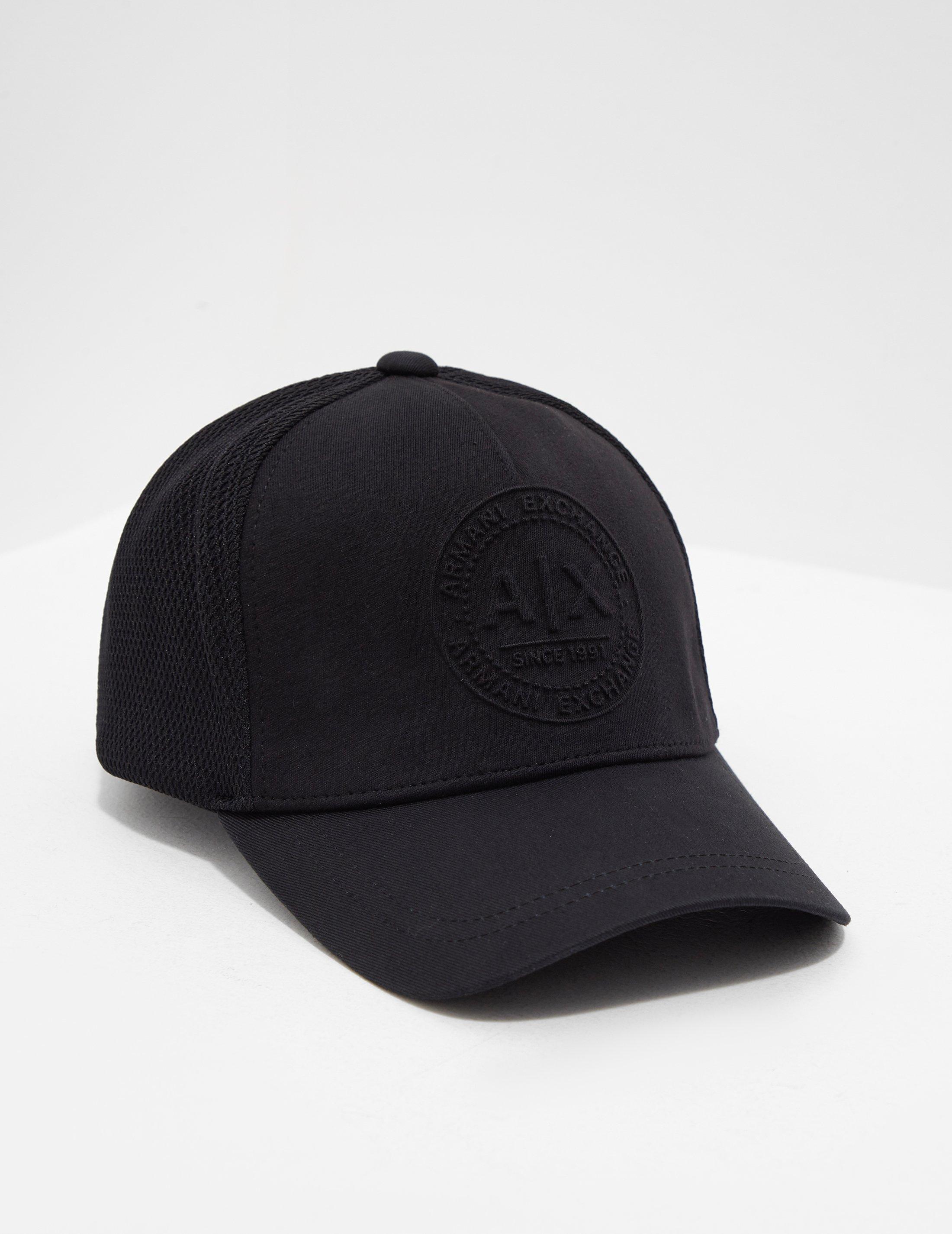bd1dd166 Lyst - Armani Exchange Embroidered Logo Cap Black in Black for Men