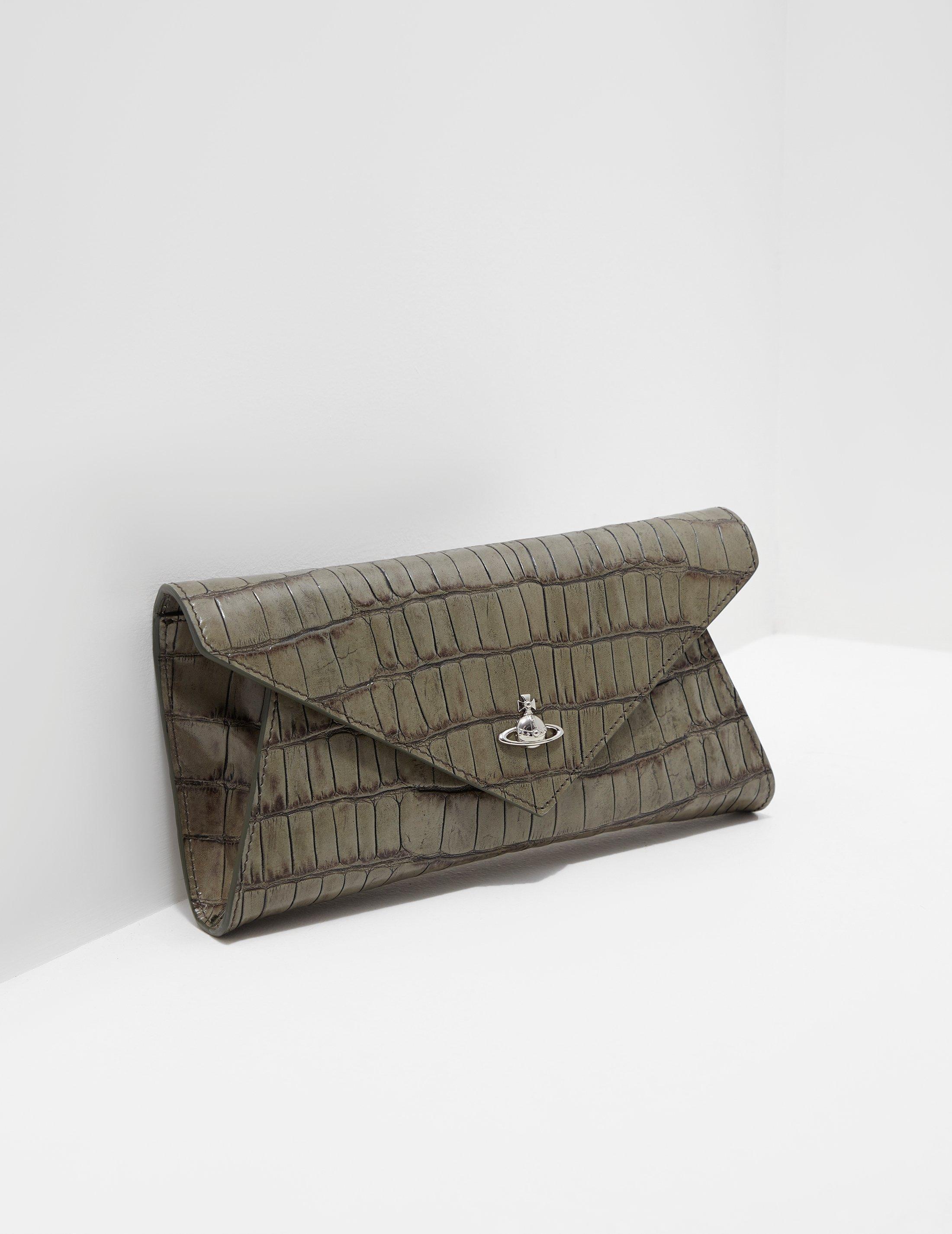 b8ed4c5de7719 Lyst - Vivienne Westwood Lisa Croc Envelope Clutch Bag - Online ...