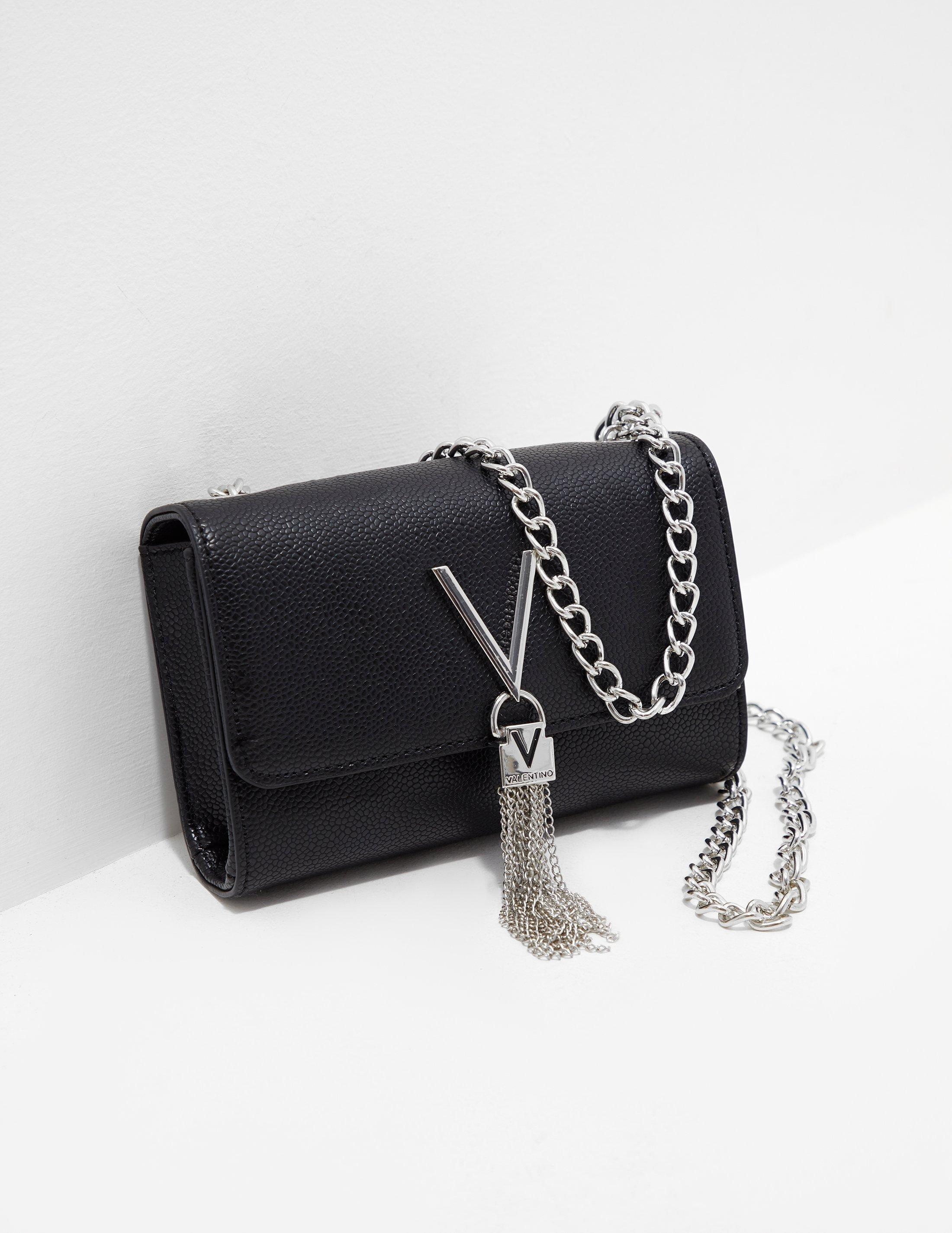 2be297c67 Valentino By Mario Valentino - Divina Chain Shoulder Bag Black - Lyst. View  fullscreen