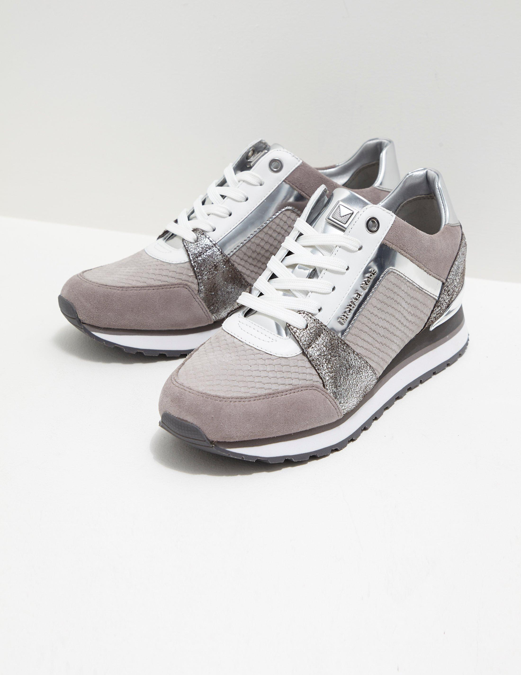 2ecf6e7531c Michael Kors Womens Billie Trainer Grey in Gray - Lyst