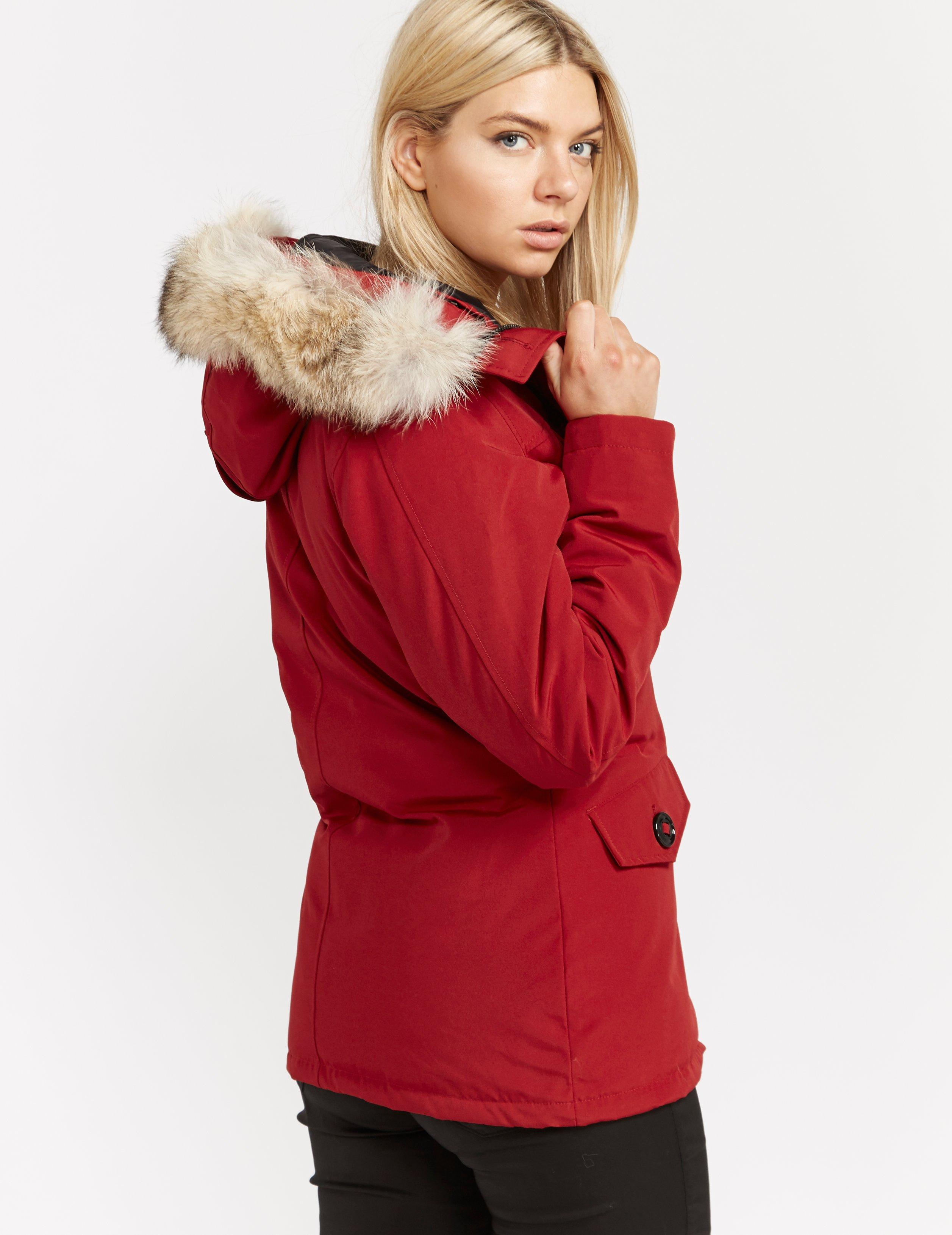 d369e739bb010 Lyst - Canada Goose Montebello Parka Jacket in Red