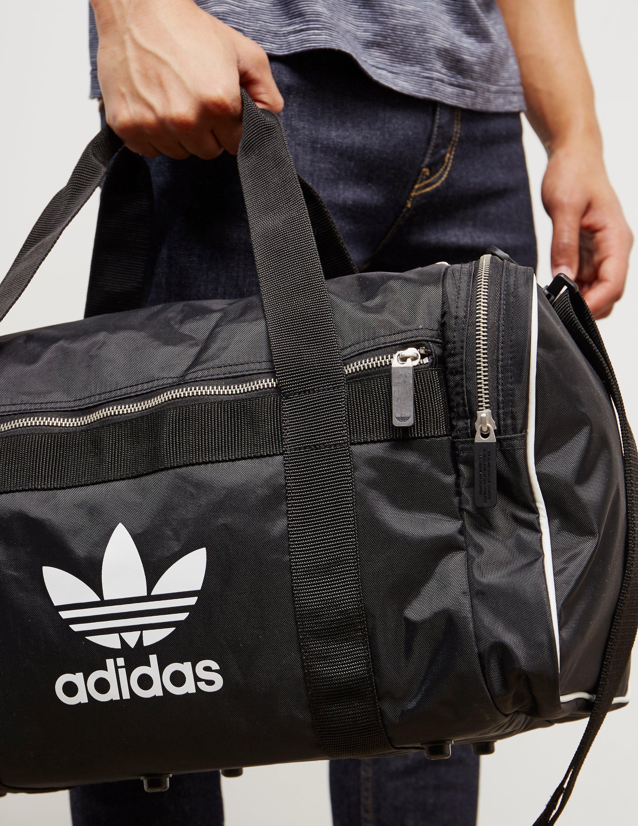 ec08bc107b2d Lyst - adidas Originals Mens Trefoil Duffel Bag Black in Black for Men