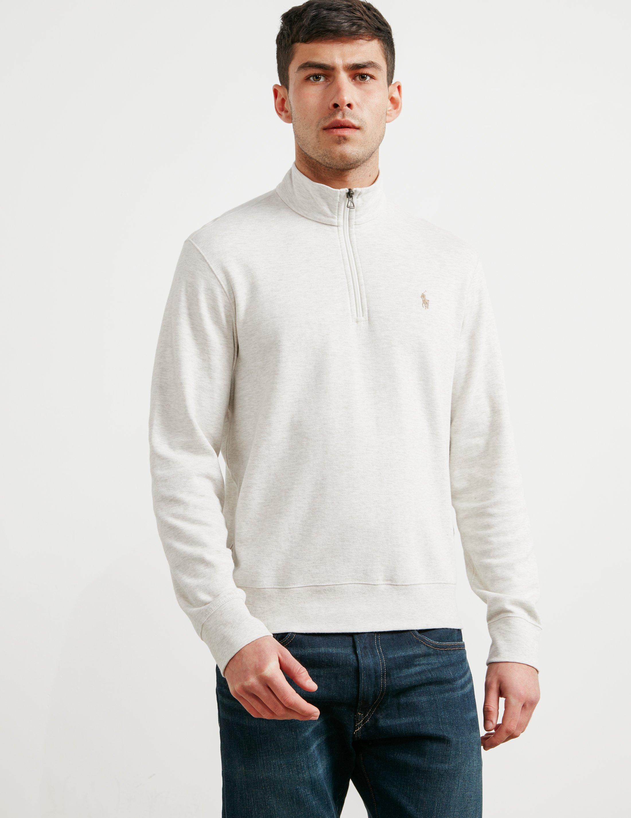 Polo Ralph Lauren. Natural Mens Pima Cotton Half Zip Sweatshirt ...