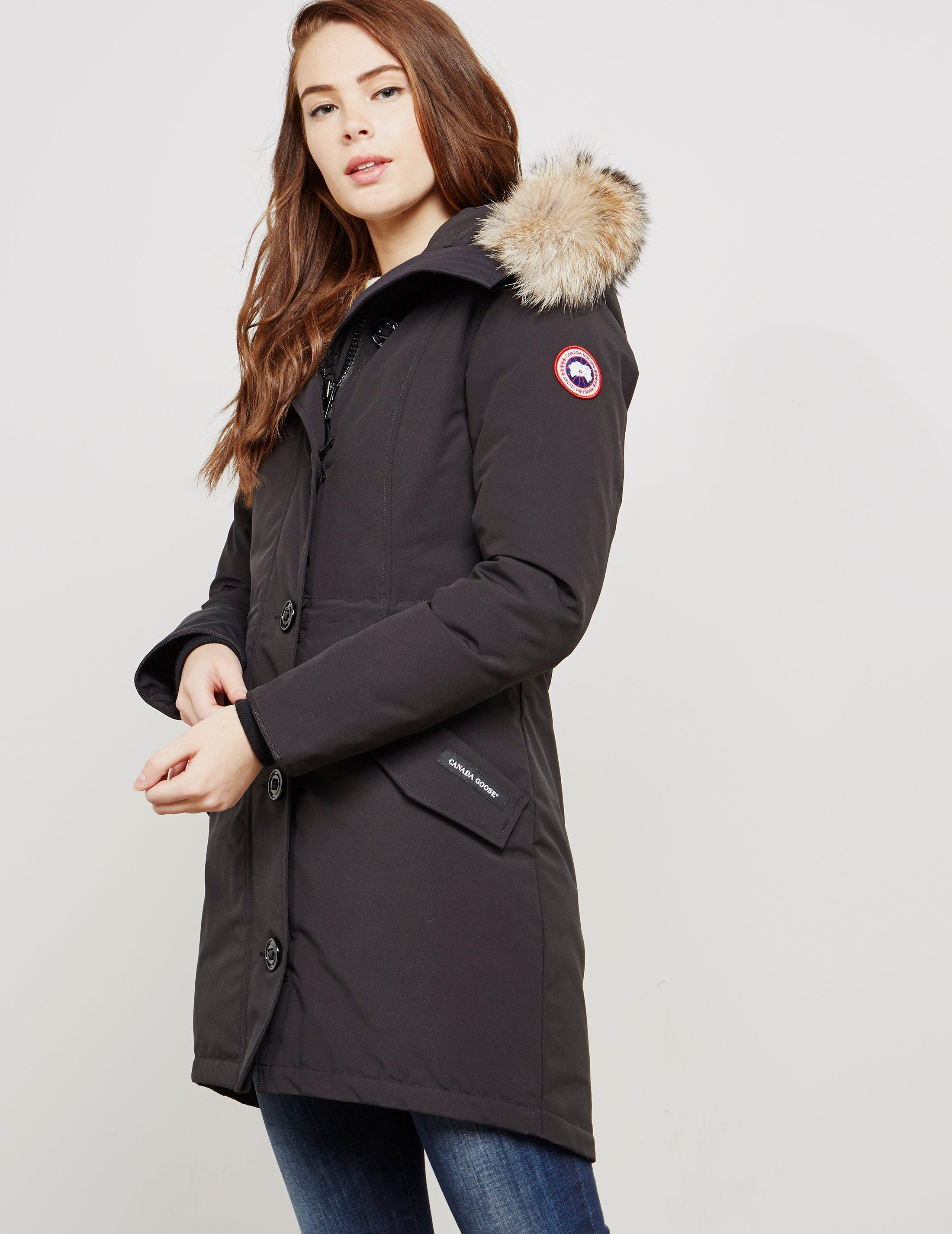 d371ab1e5ce8 Canada Goose - Rossclair Padded Parka Jacket Black - Lyst. View fullscreen