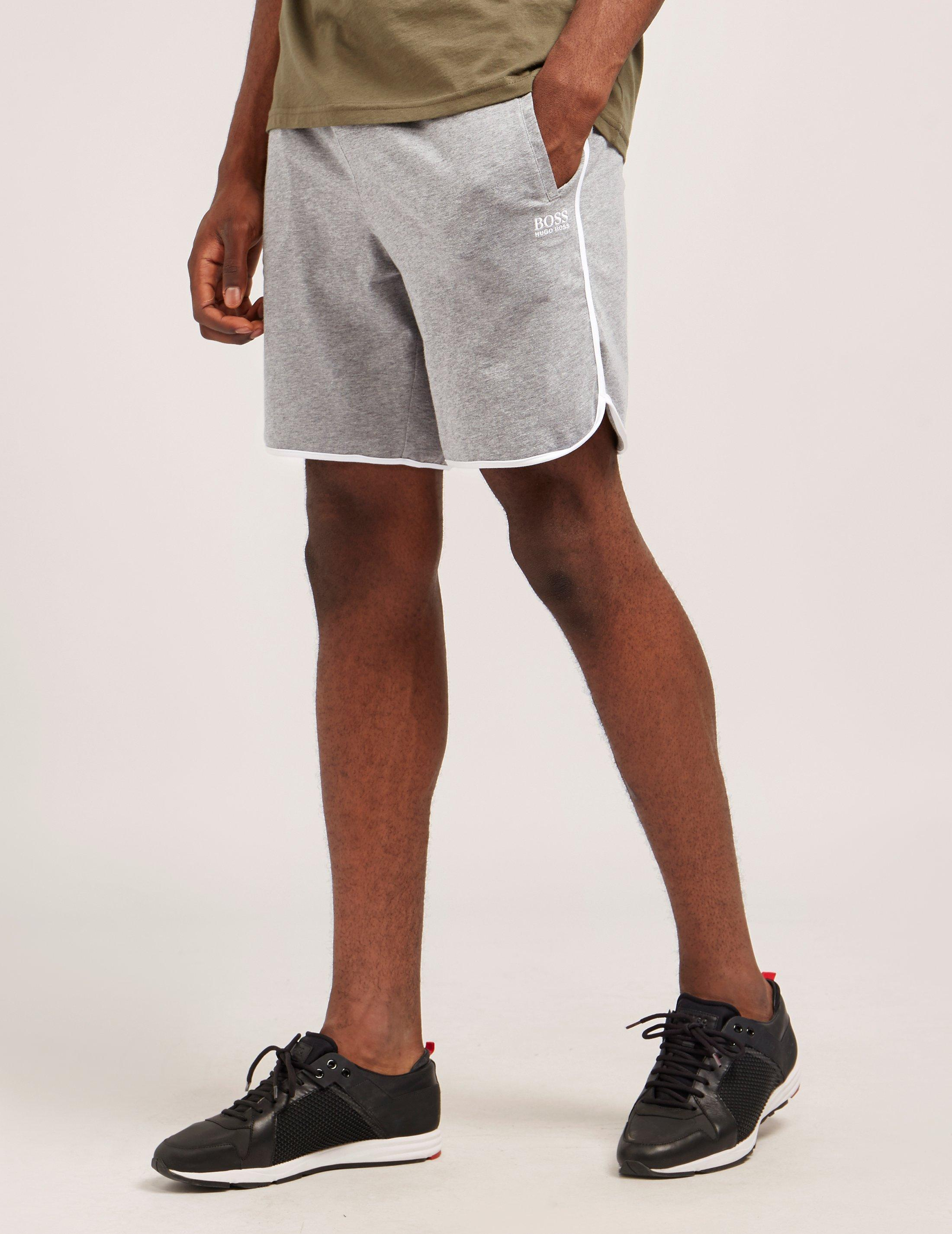 dcefba098 BOSS Logo Fleece Shorts Light Grey in Gray for Men - Lyst