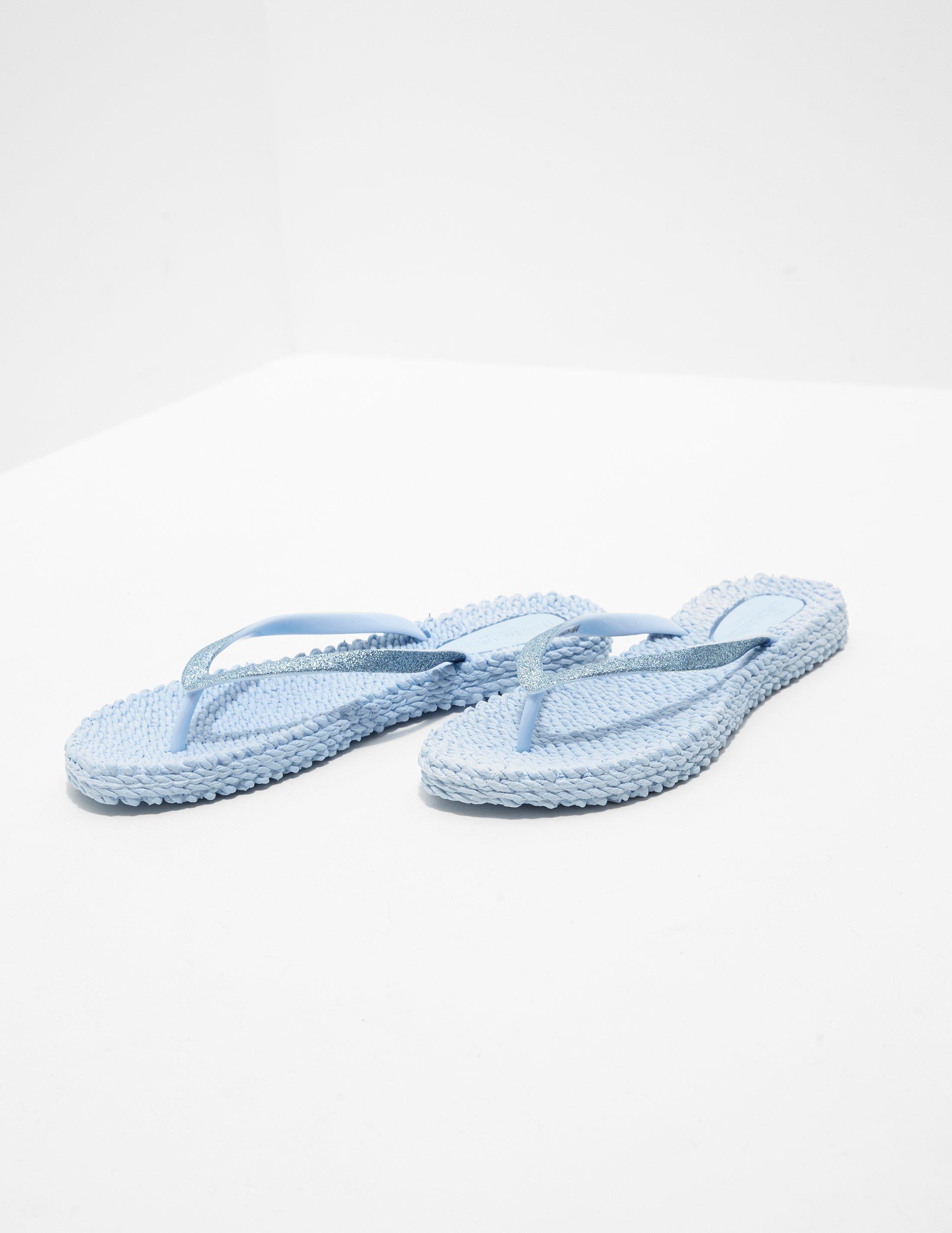 e1549d531f3c Lyst - Ilse Jacobsen Woven Flip Flops Blue in Blue
