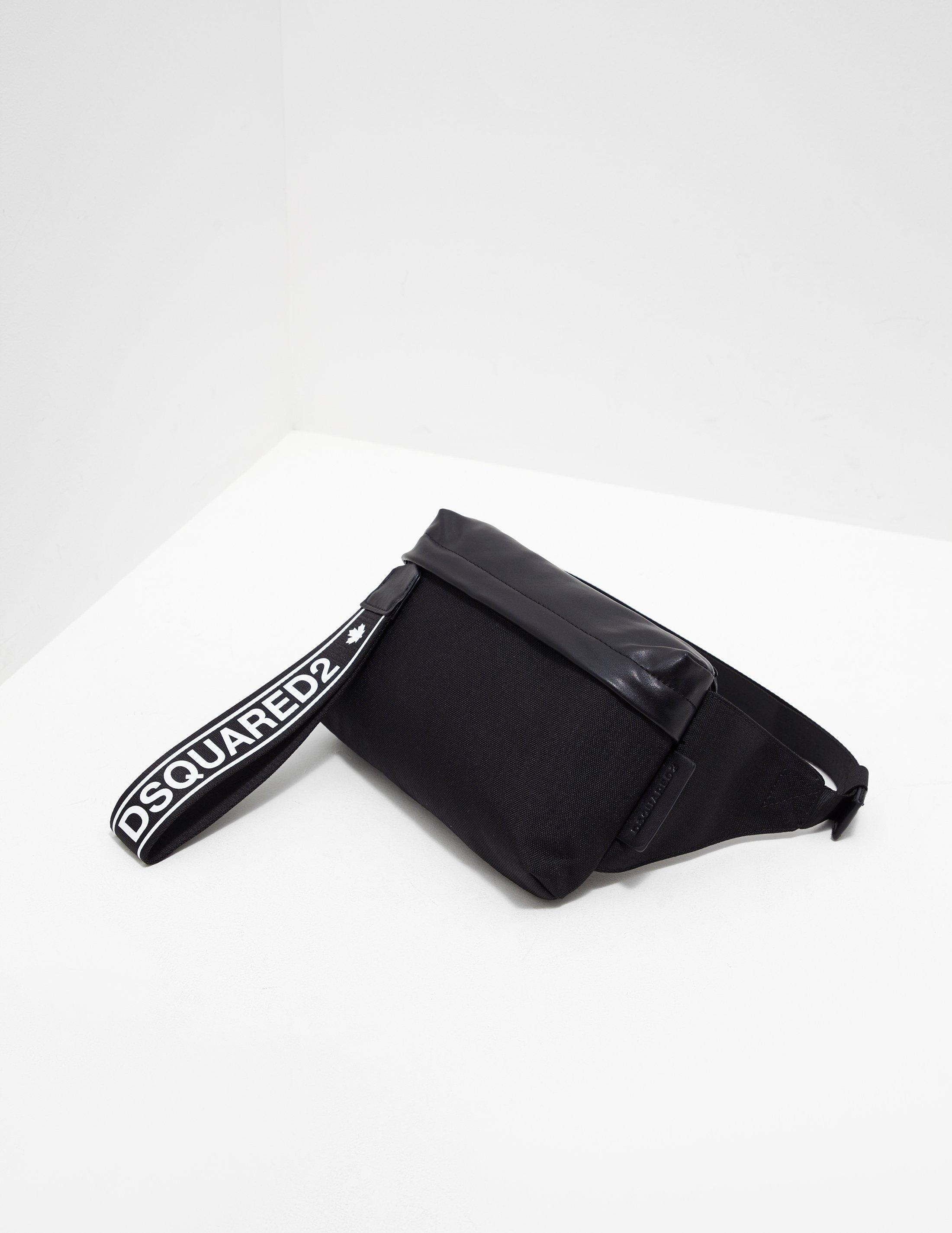 9abfe7cd6e DSquared² Strap Waist Bag Black in Black for Men - Lyst