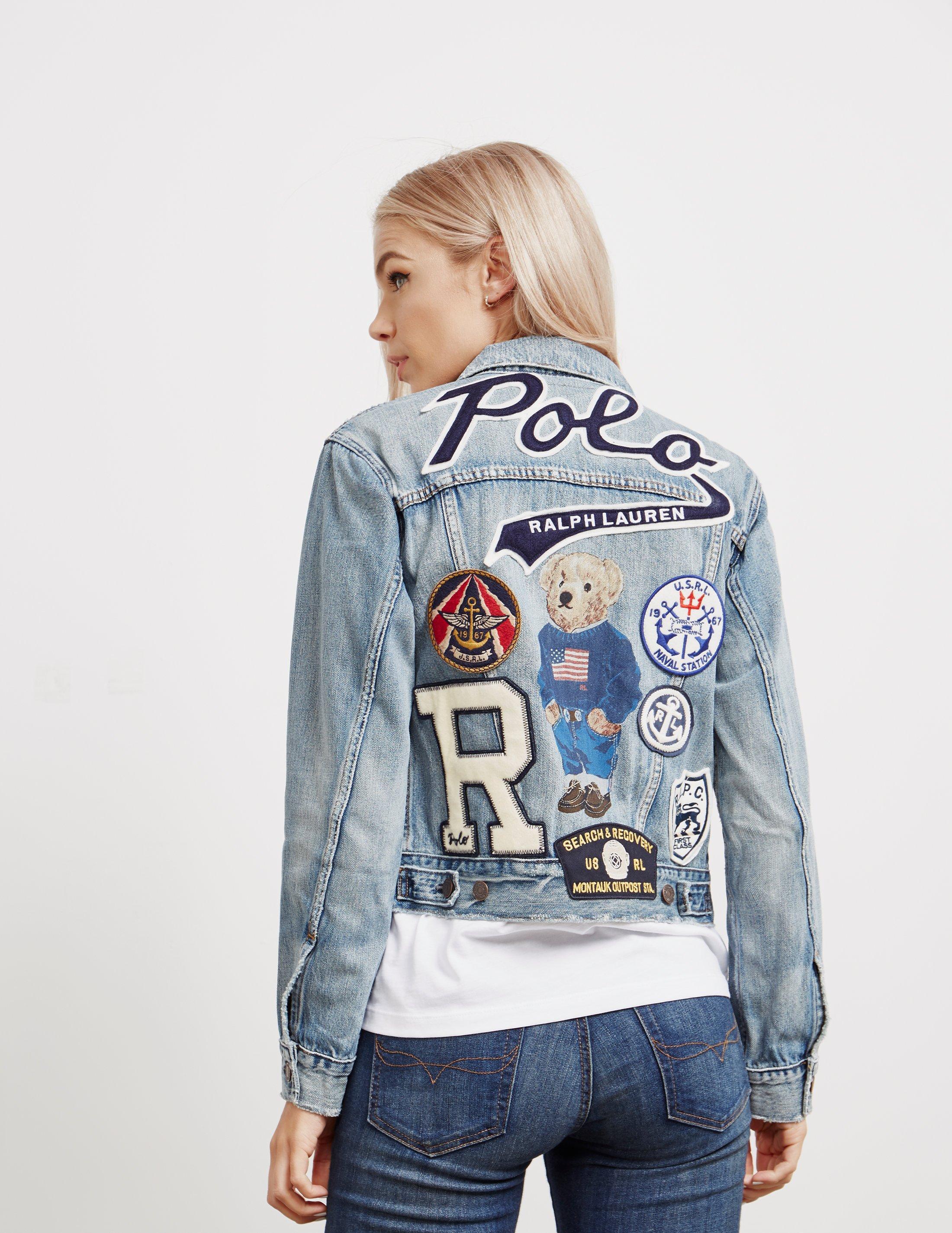 34d7726a2 Polo Ralph Lauren Womens Bear Trucker Denim Jacket - Online ...