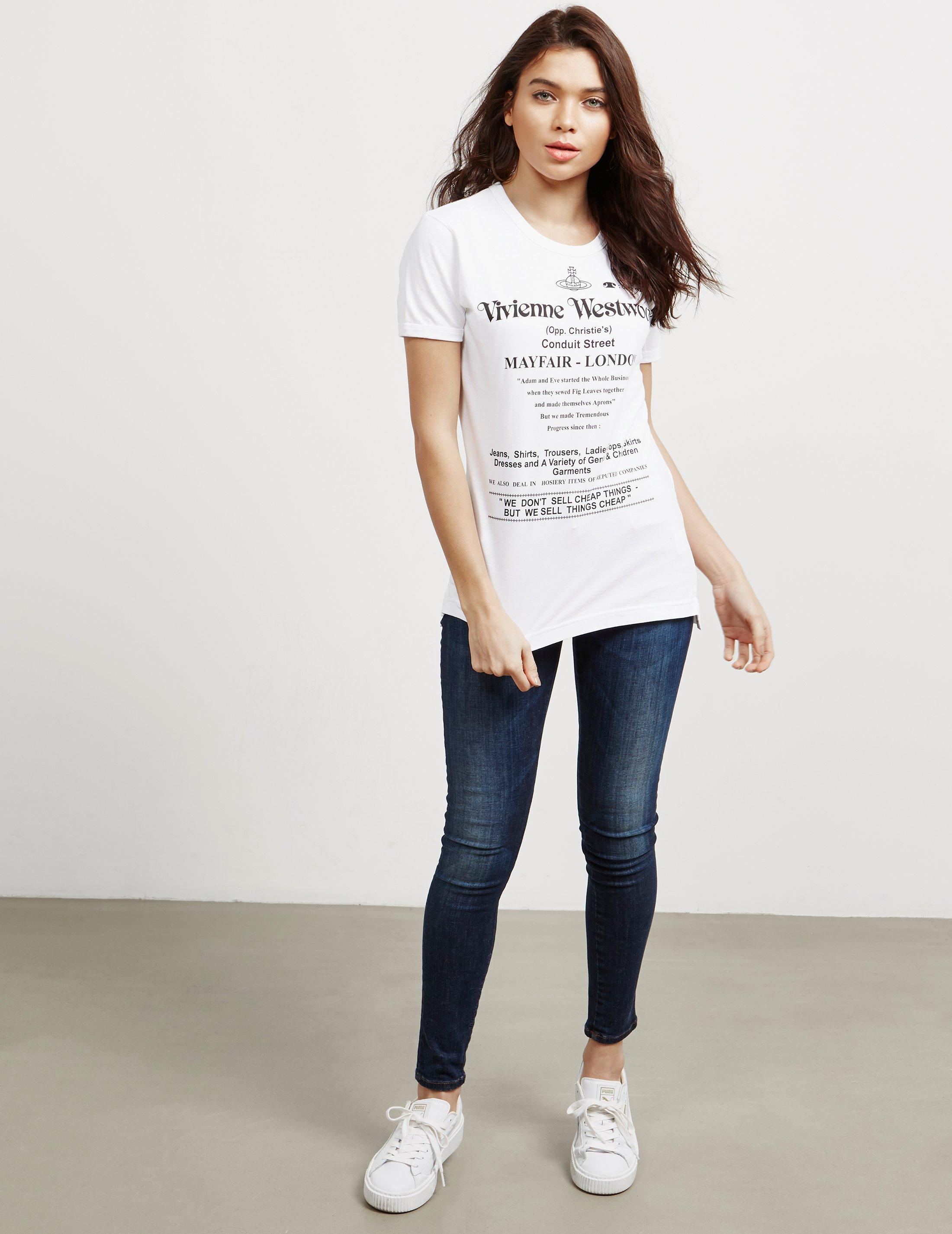 46281962ba Lyst - Vivienne Westwood Anglomania Cheap Things Short Sleeve T-shirt White  in White - Save 41%