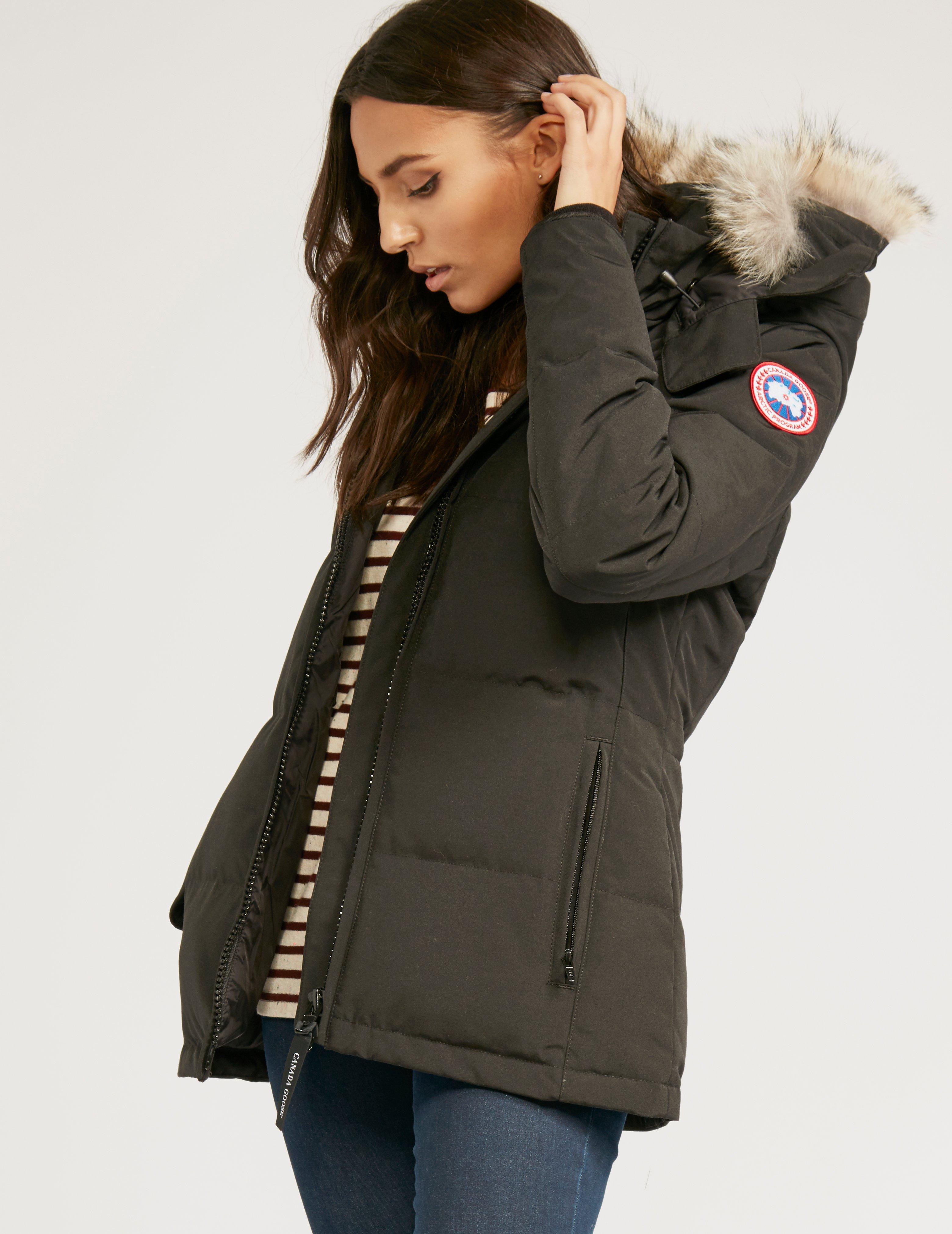 4551f941823a Canada Goose Womens Chelsea Parka Jacket Black in Black - Lyst