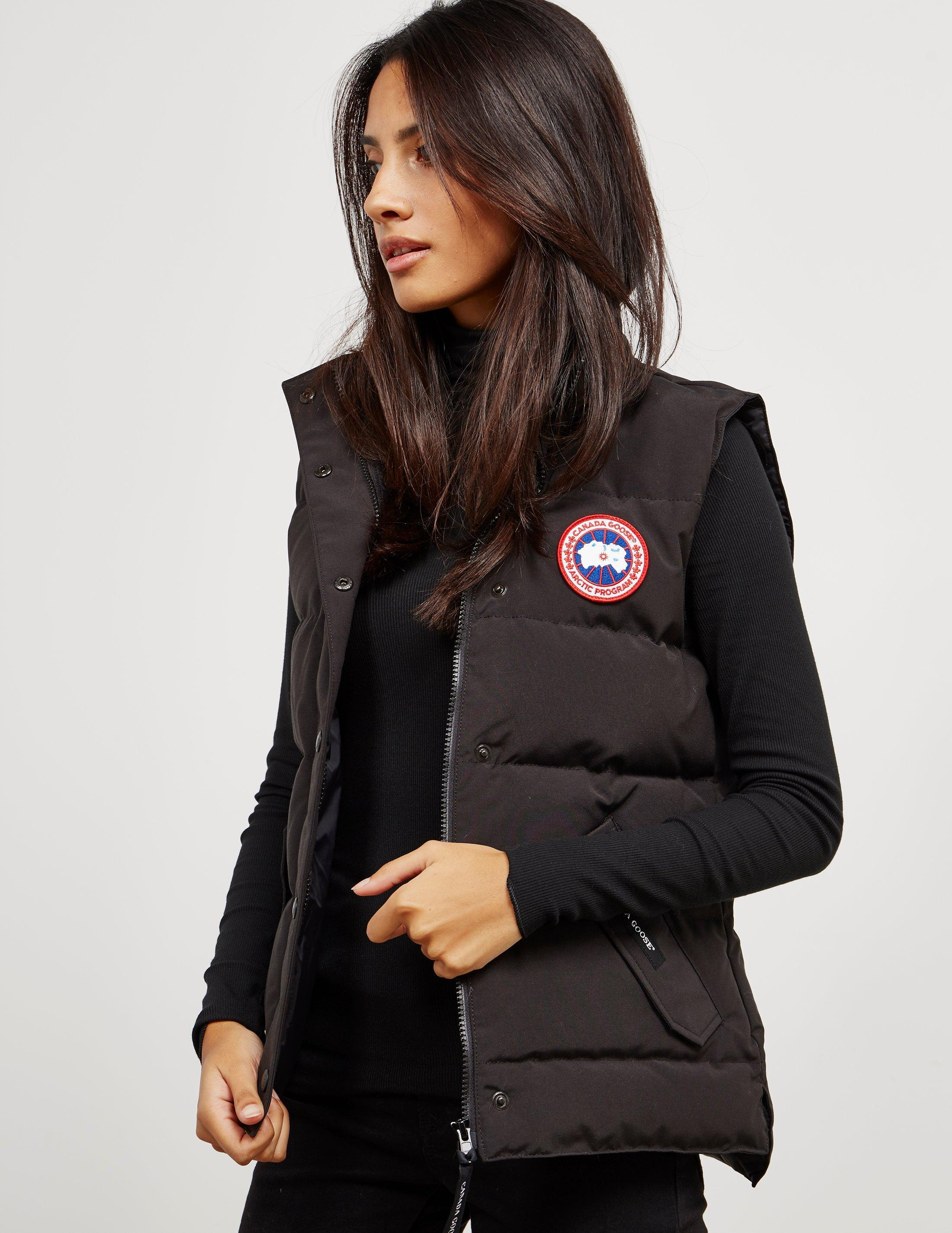 c5af2b3bc5836 ... get lyst canada goose womens freestyle padded gilet black in black  a0778 37ff7 ...
