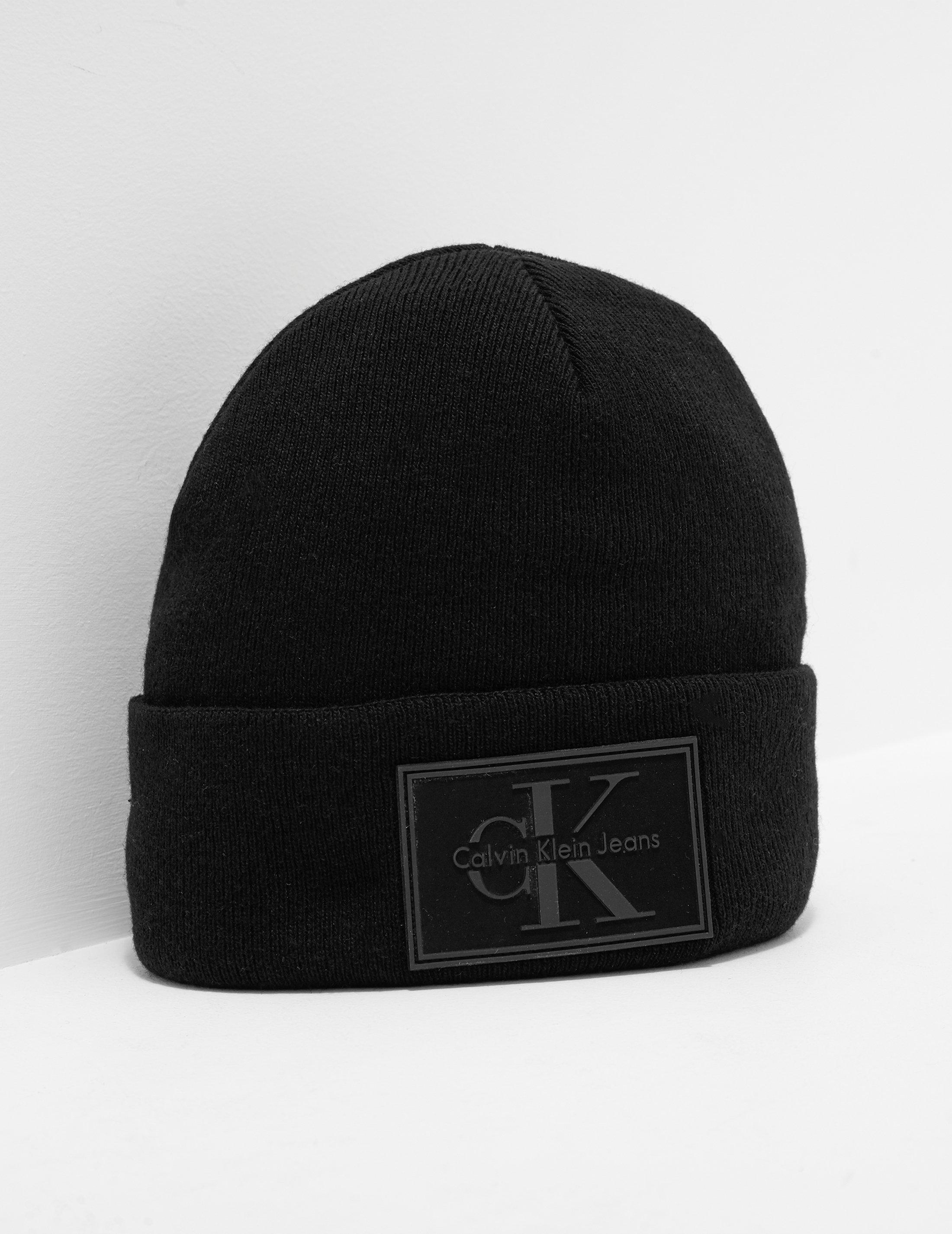 a5313d75 Calvin Klein Mens Reissue Knitted Beanie Black in Black for Men - Lyst
