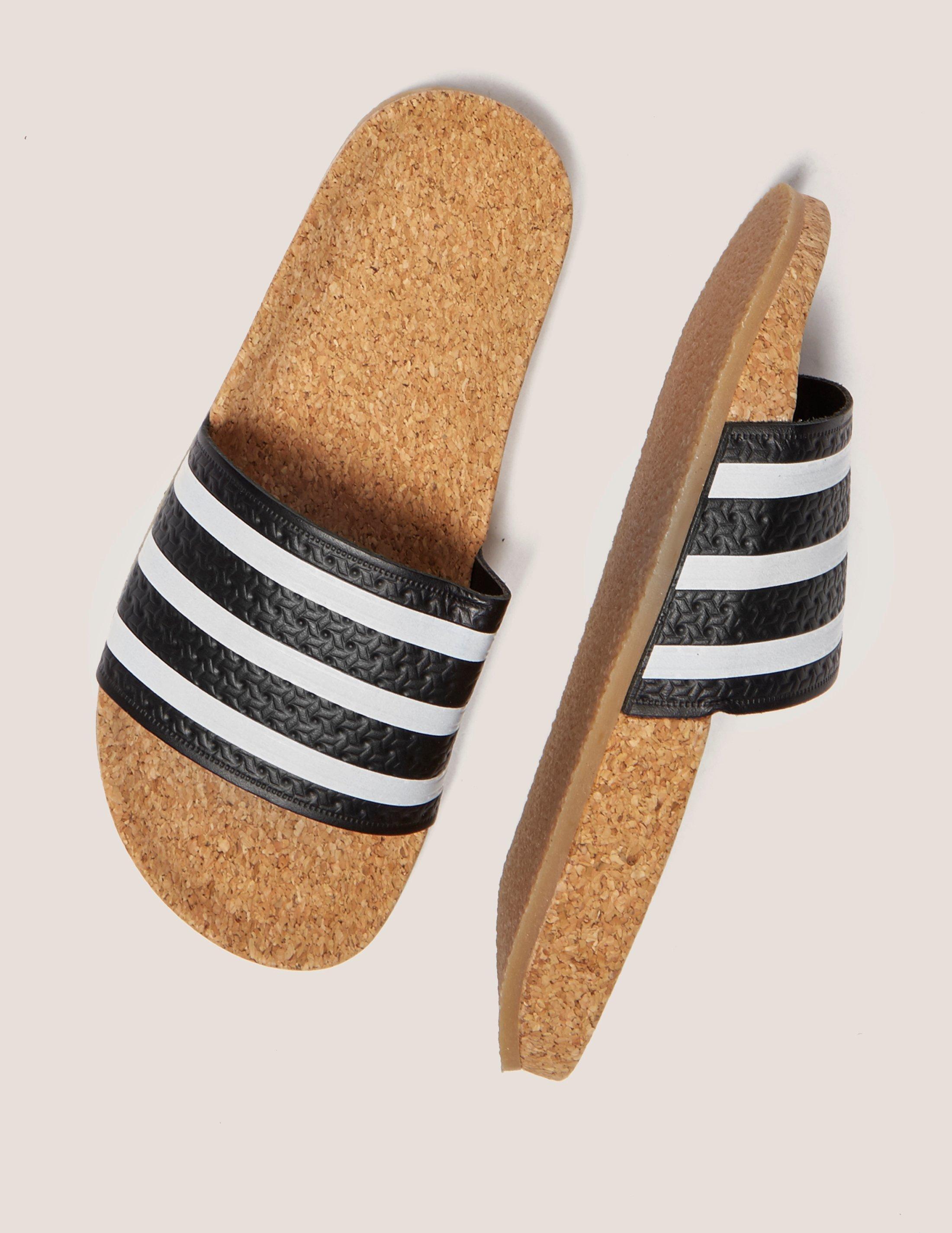 70dd9b3705ab43 Lyst - adidas Originals Adilette Cork Slides