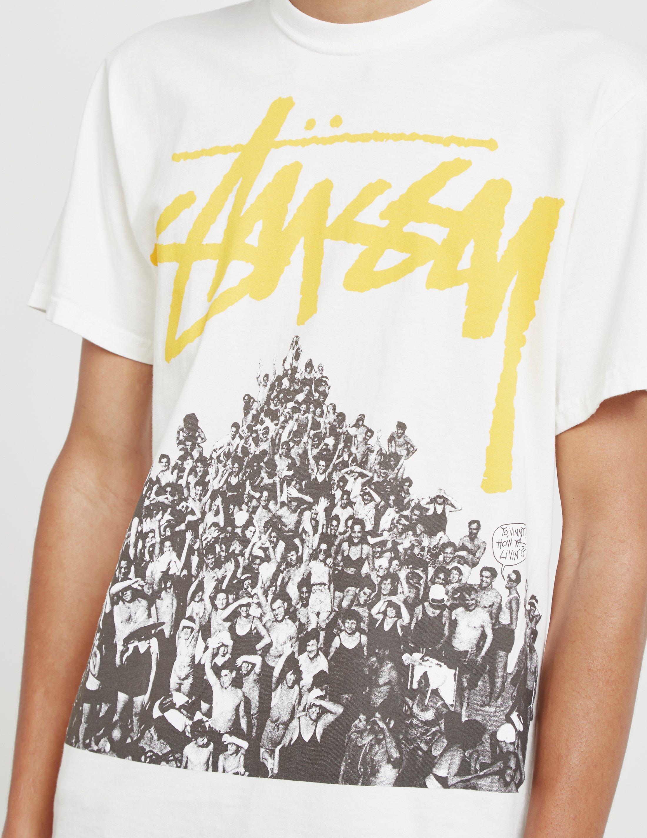 fcc240b56c7 Lyst - Stussy Beach Mob Short Sleeve T-shirt White in White for Men