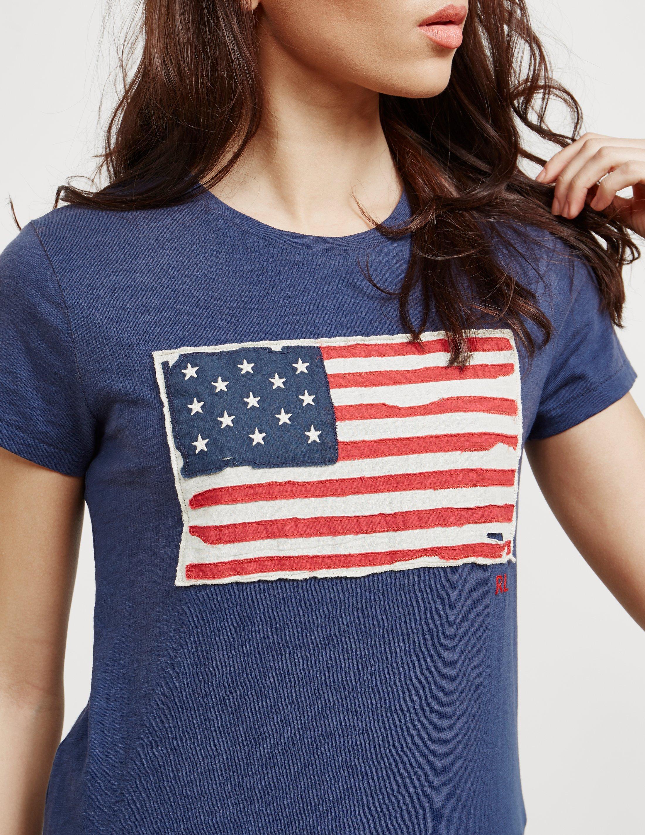 712dd895f5eed Lyst - Polo Ralph Lauren Flag Short Sleeve T-shirt Navy Blue in Blue