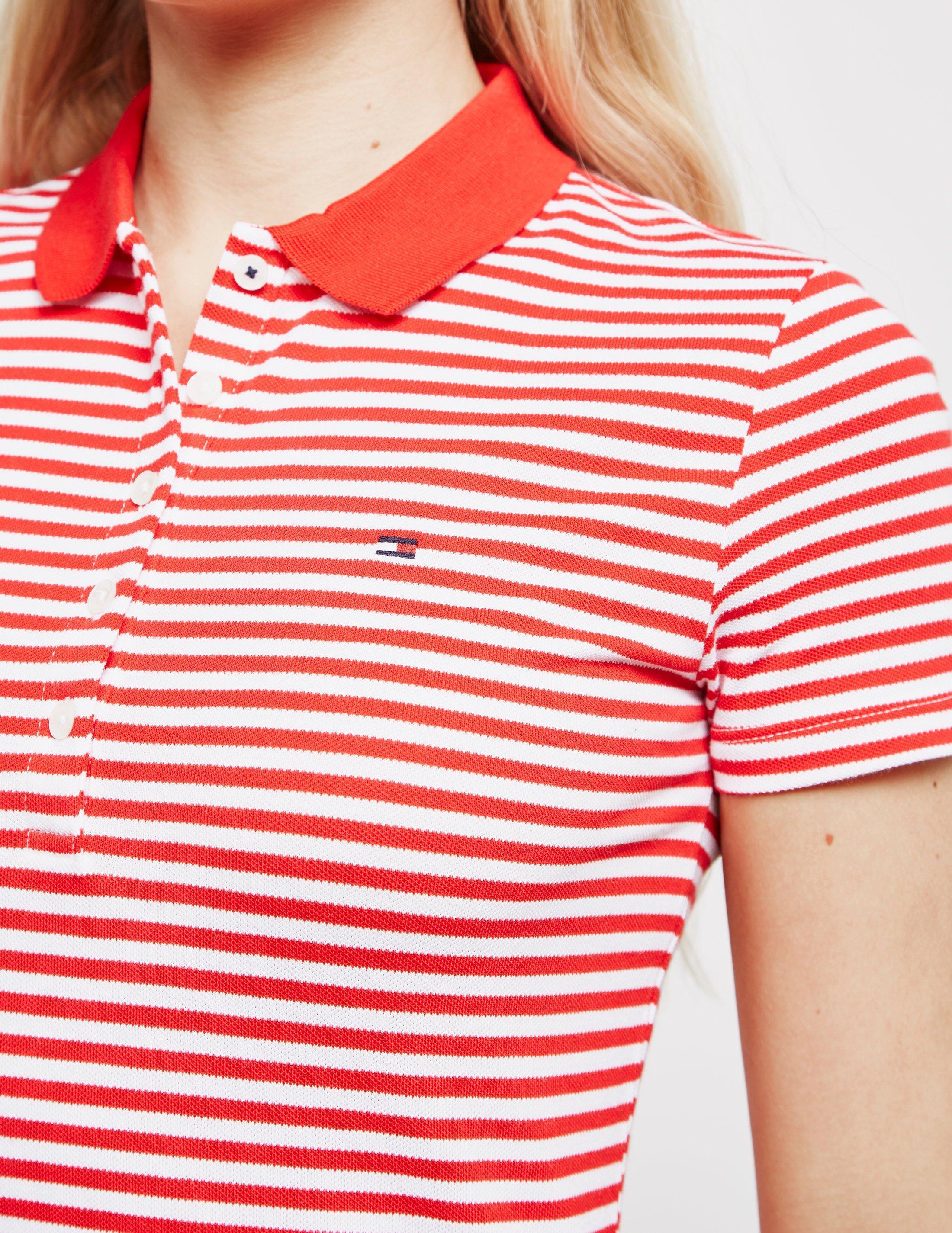 d078e0238a0 Tommy Hilfiger - Chiara Polo Shirt Dress Red - Lyst. View fullscreen