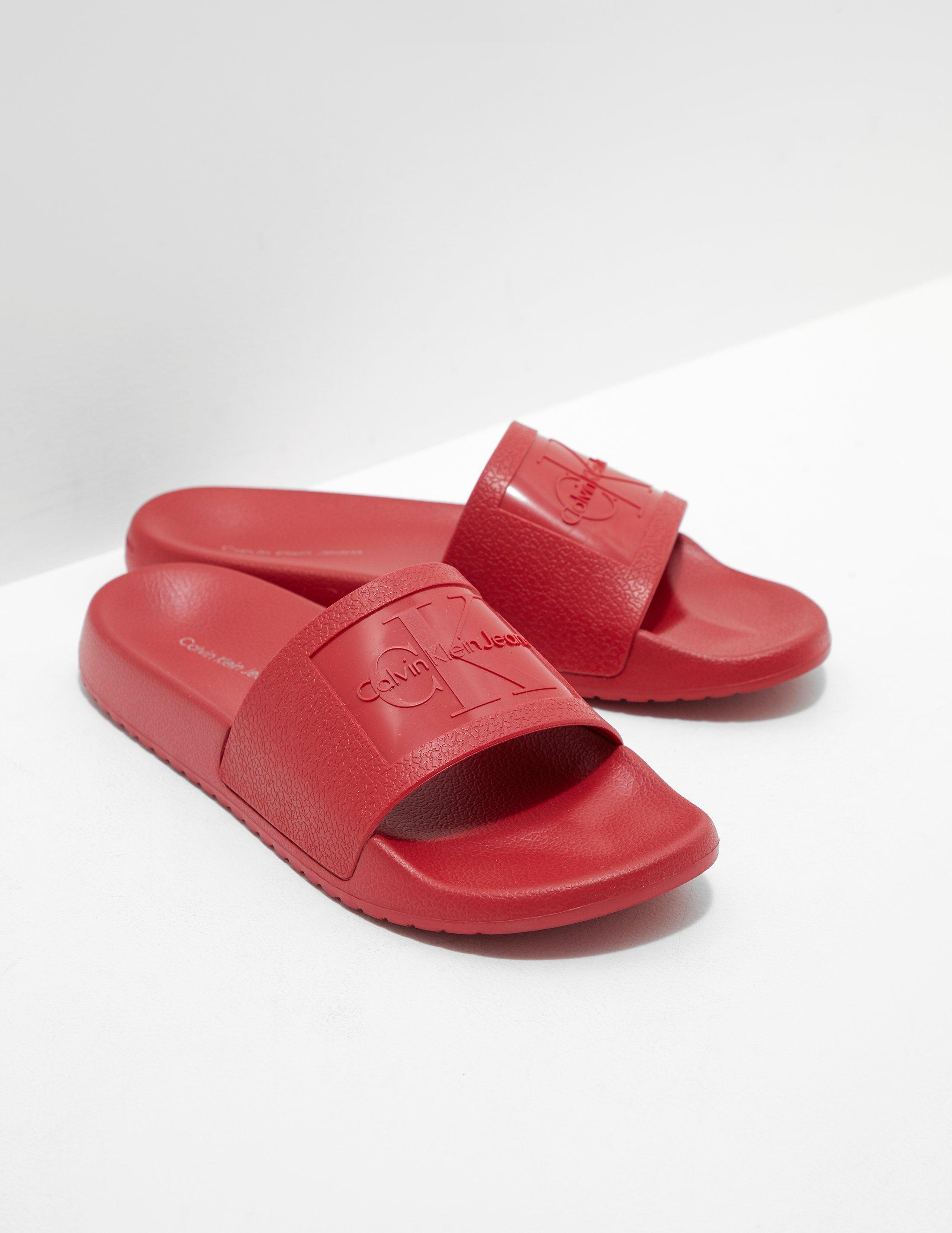 Lyst - Calvin Klein Womens Christie Slides Women s Red in Red 92a8e13c4