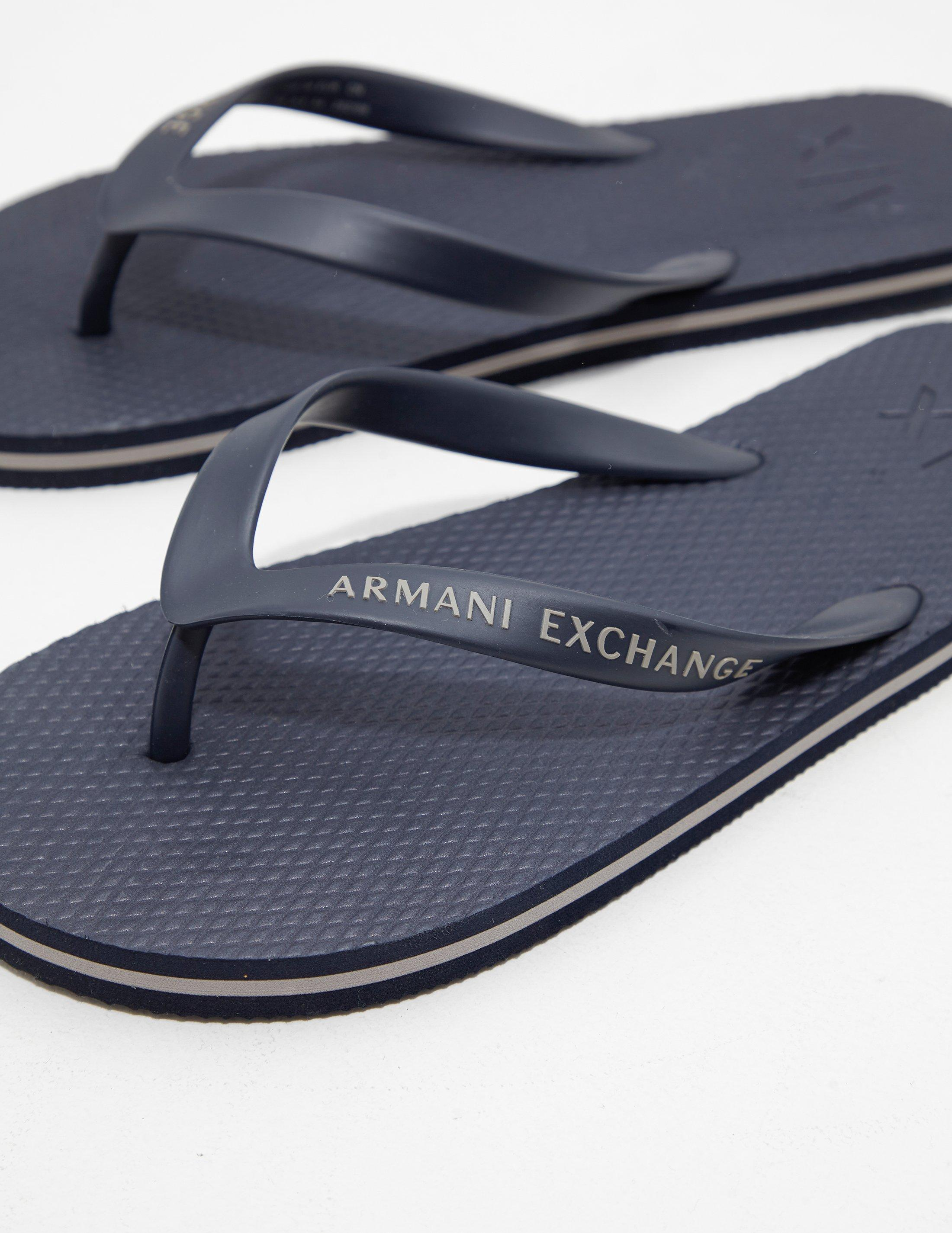 0275848dcbde Lyst - Armani Exchange Mens Flip Flops Navy Blue in Blue for Men