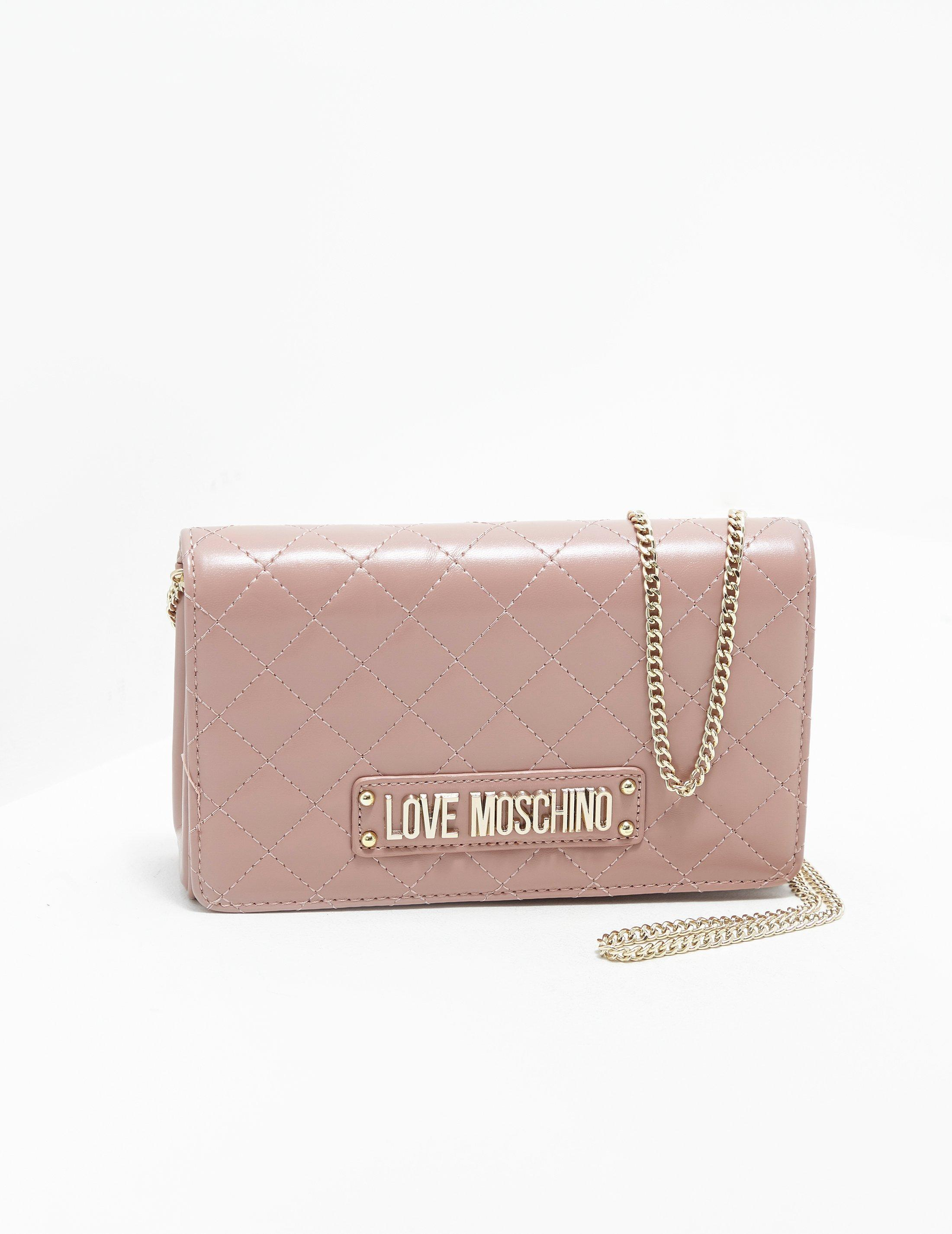 01e69cfe2596 Love Moschino Womens Quilted Chain Shoulder Bag Pink In Lyst