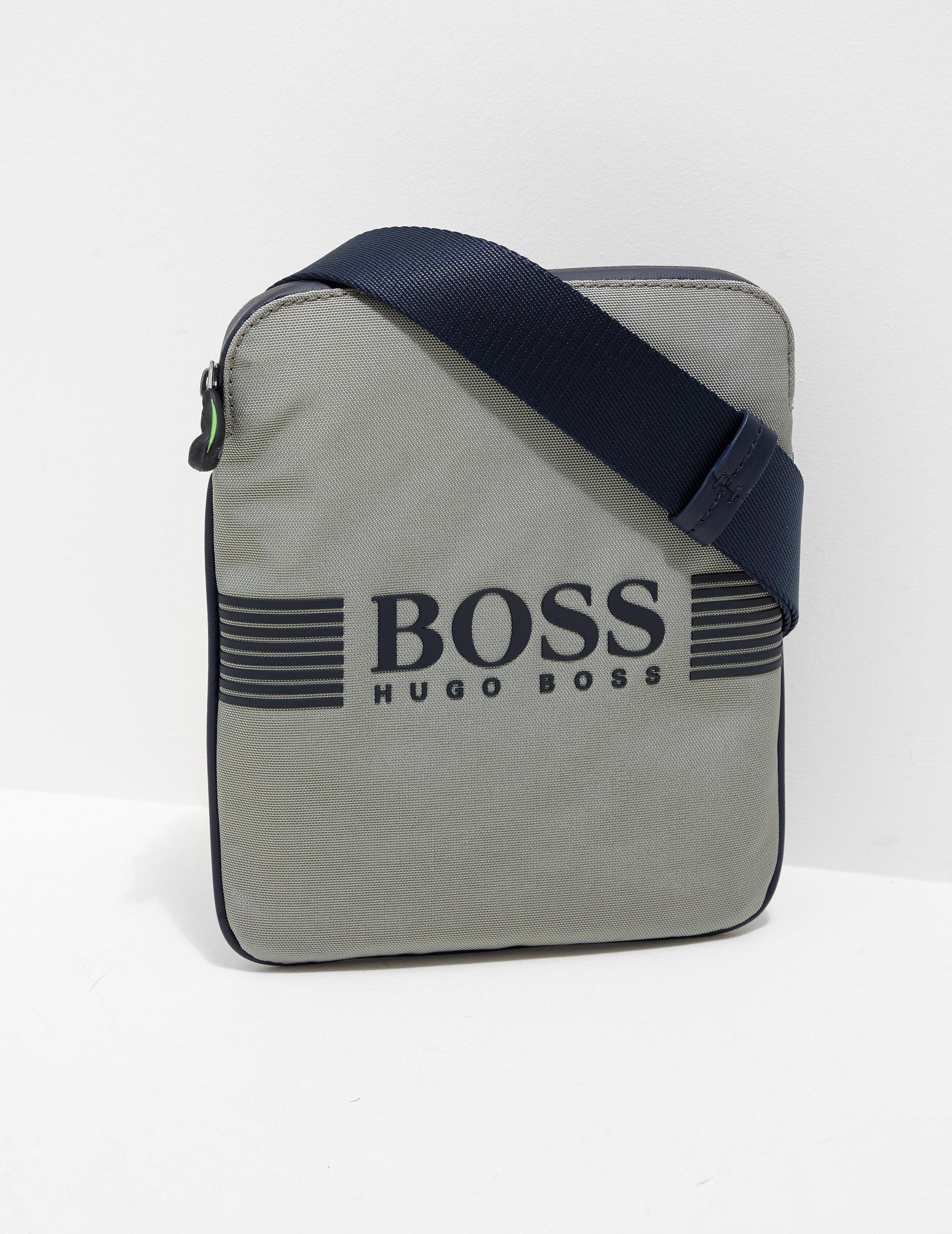 232a8bafdf BOSS Mens Pixel Small Pouch Bag Green in Green for Men - Lyst