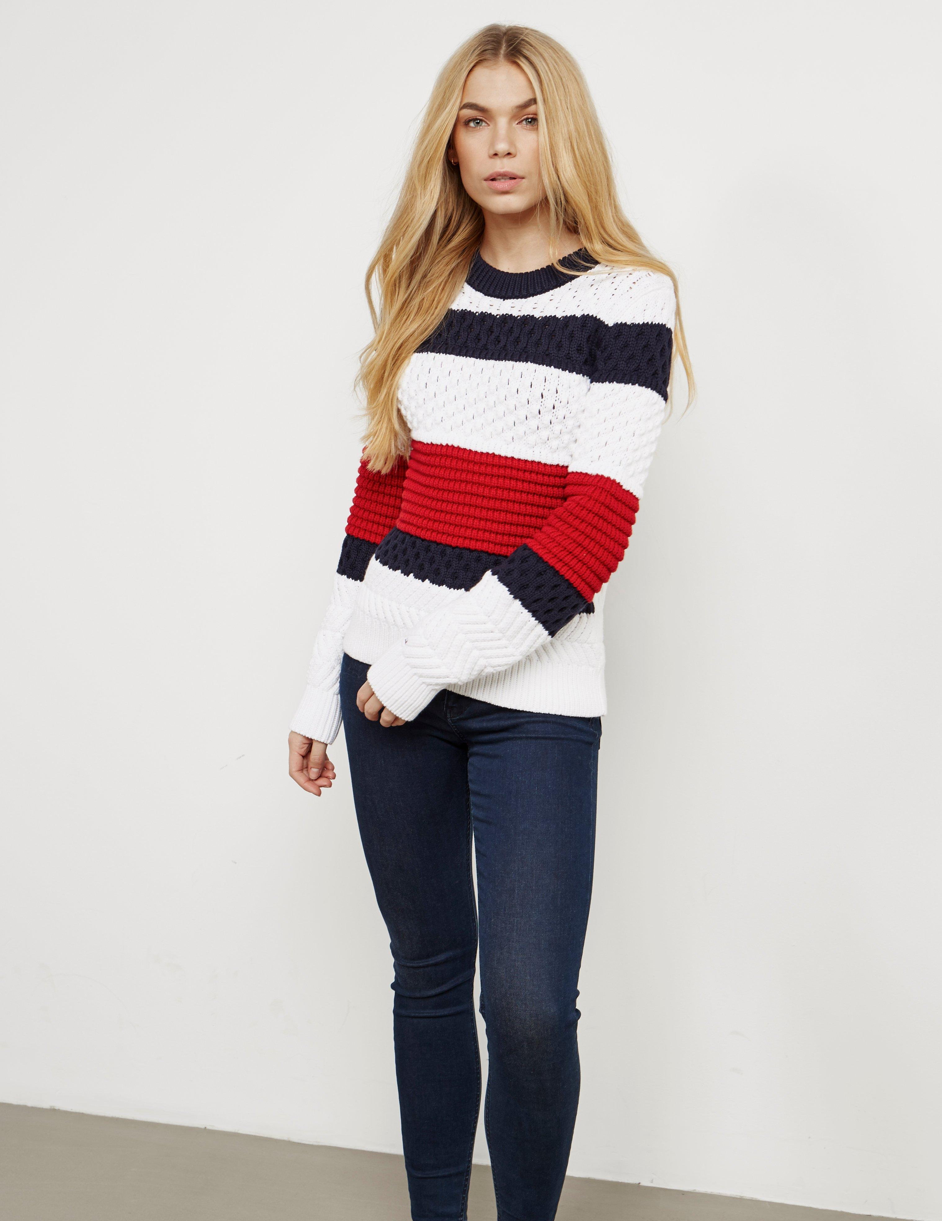 9e3569b6 Tommy Hilfiger Womens Alexia Knitted Jumper White in White - Lyst