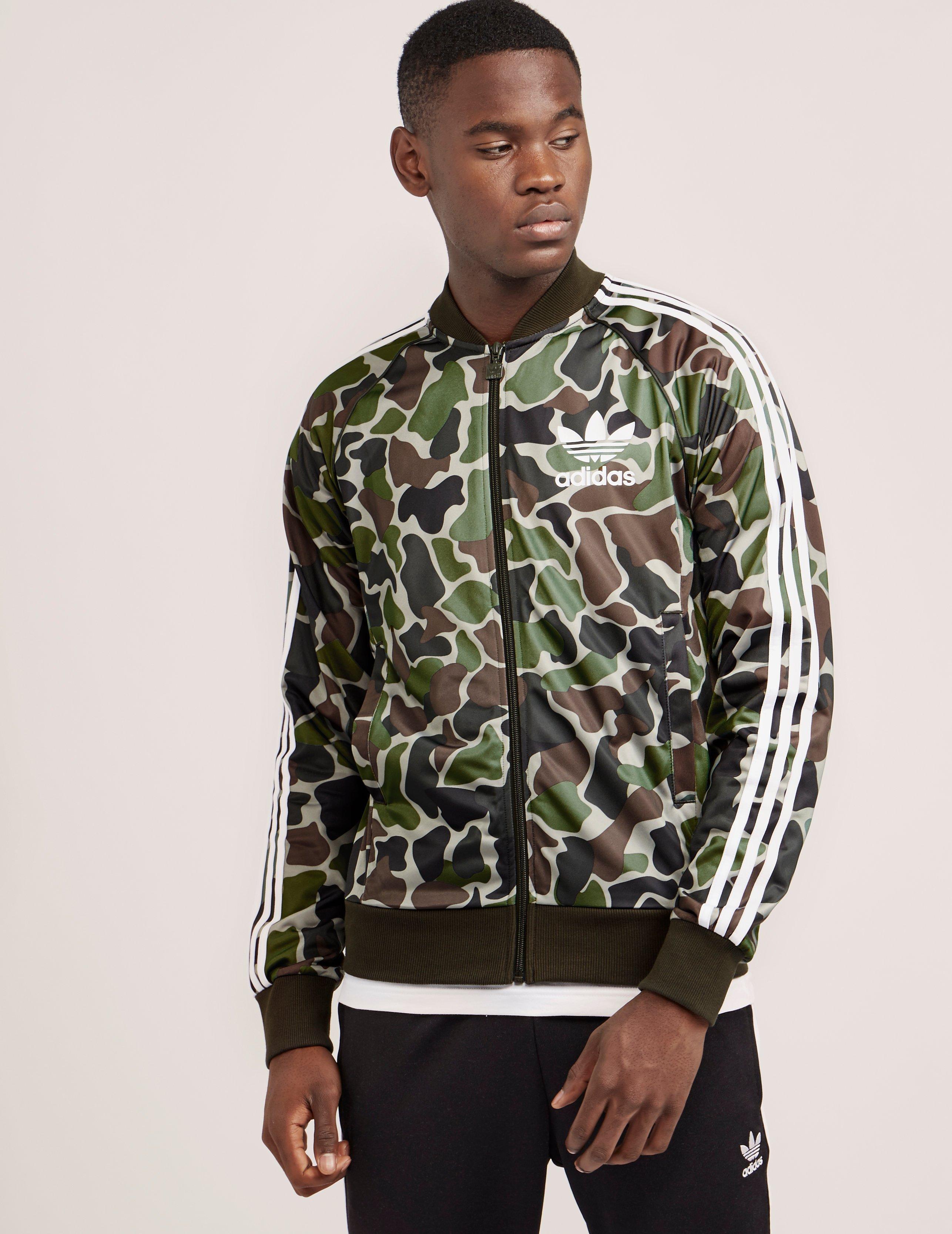 Lyst adidas Originals hombre  Superstar Track Top Verde Camuflaje