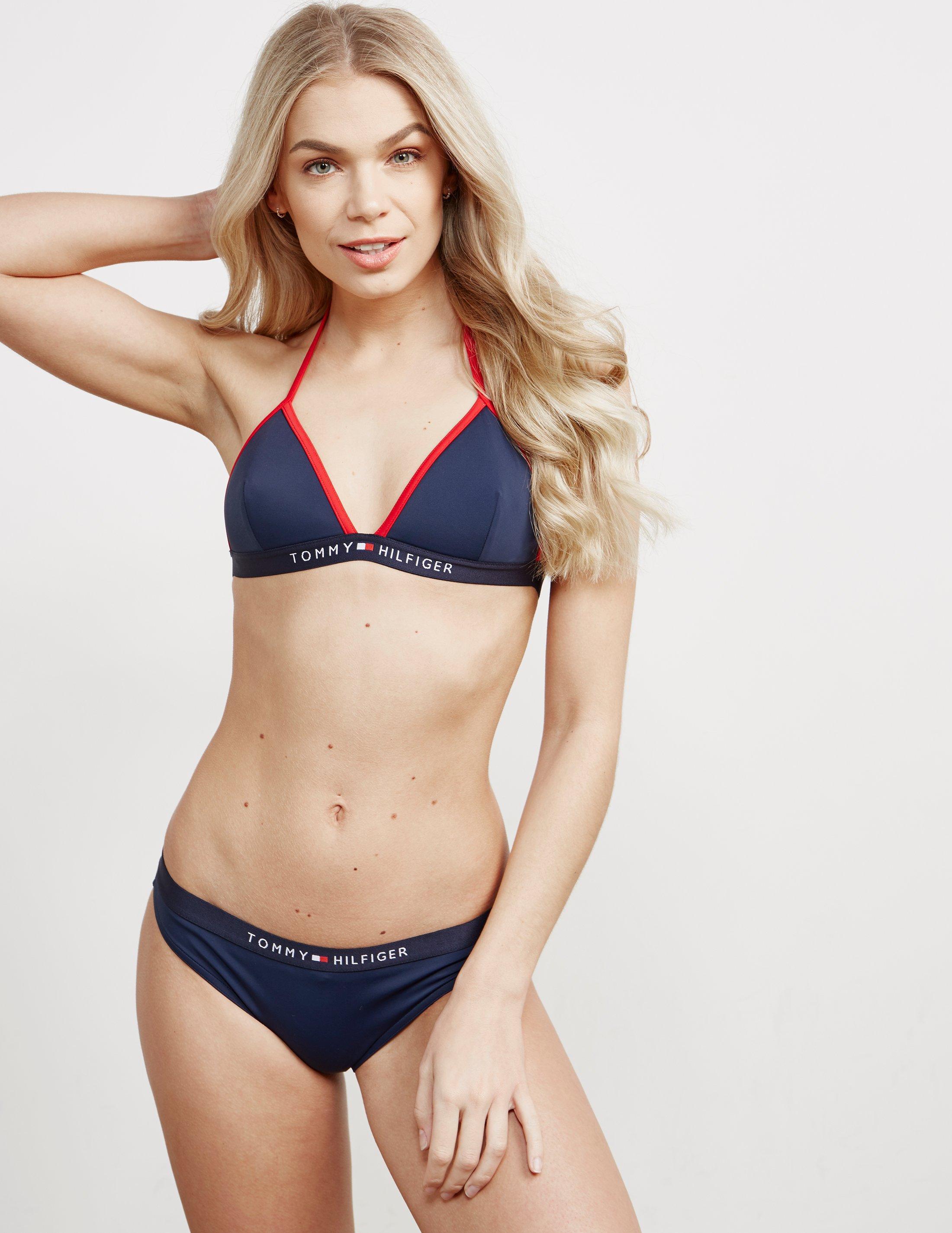 419c67b7dca546 Lyst - Tommy Hilfiger Womens Triangle Fixed Bikini Top-online ...