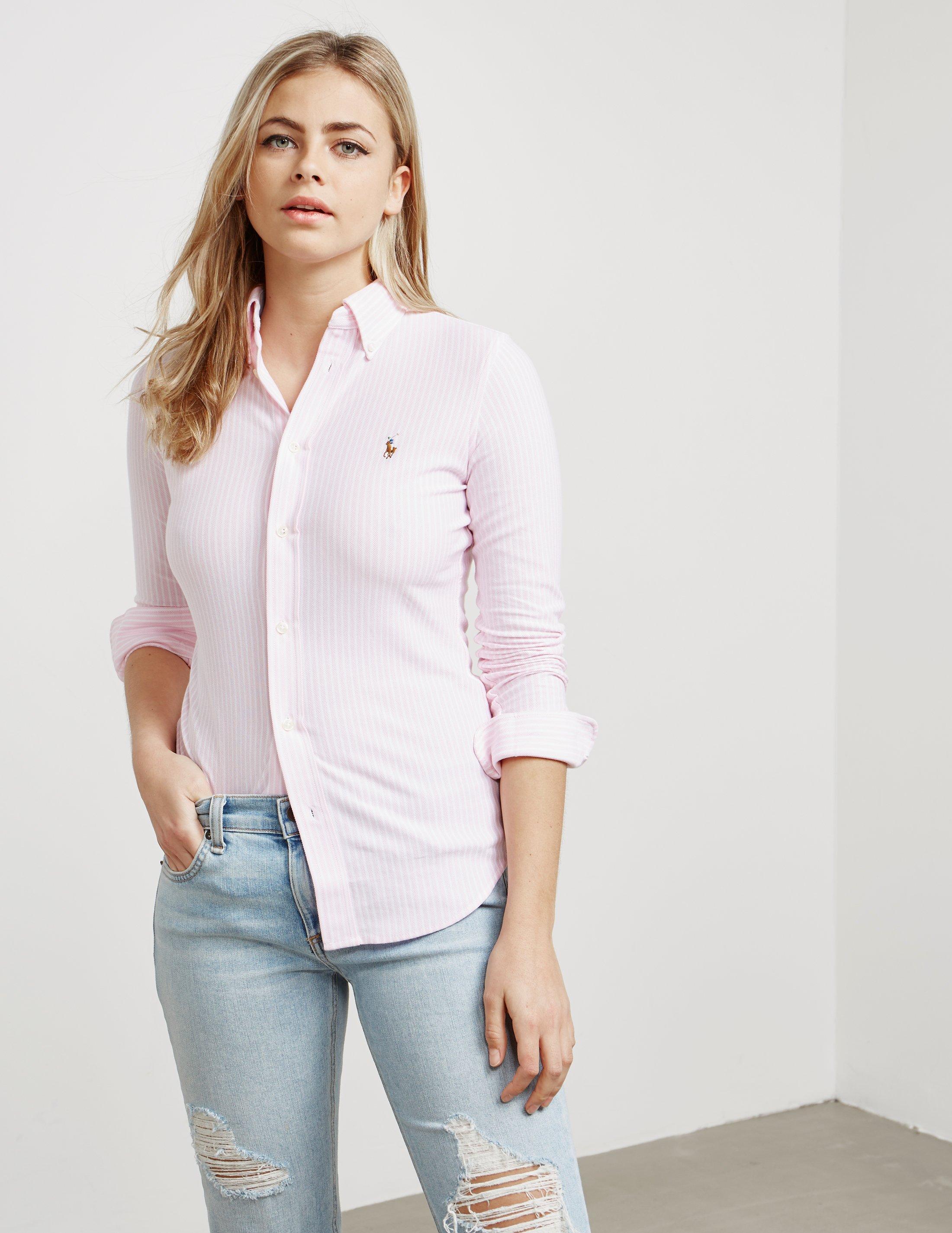 548adebcf56 Lyst - Polo Ralph Lauren Heidi Long Sleeve Shirt Pink in Pink