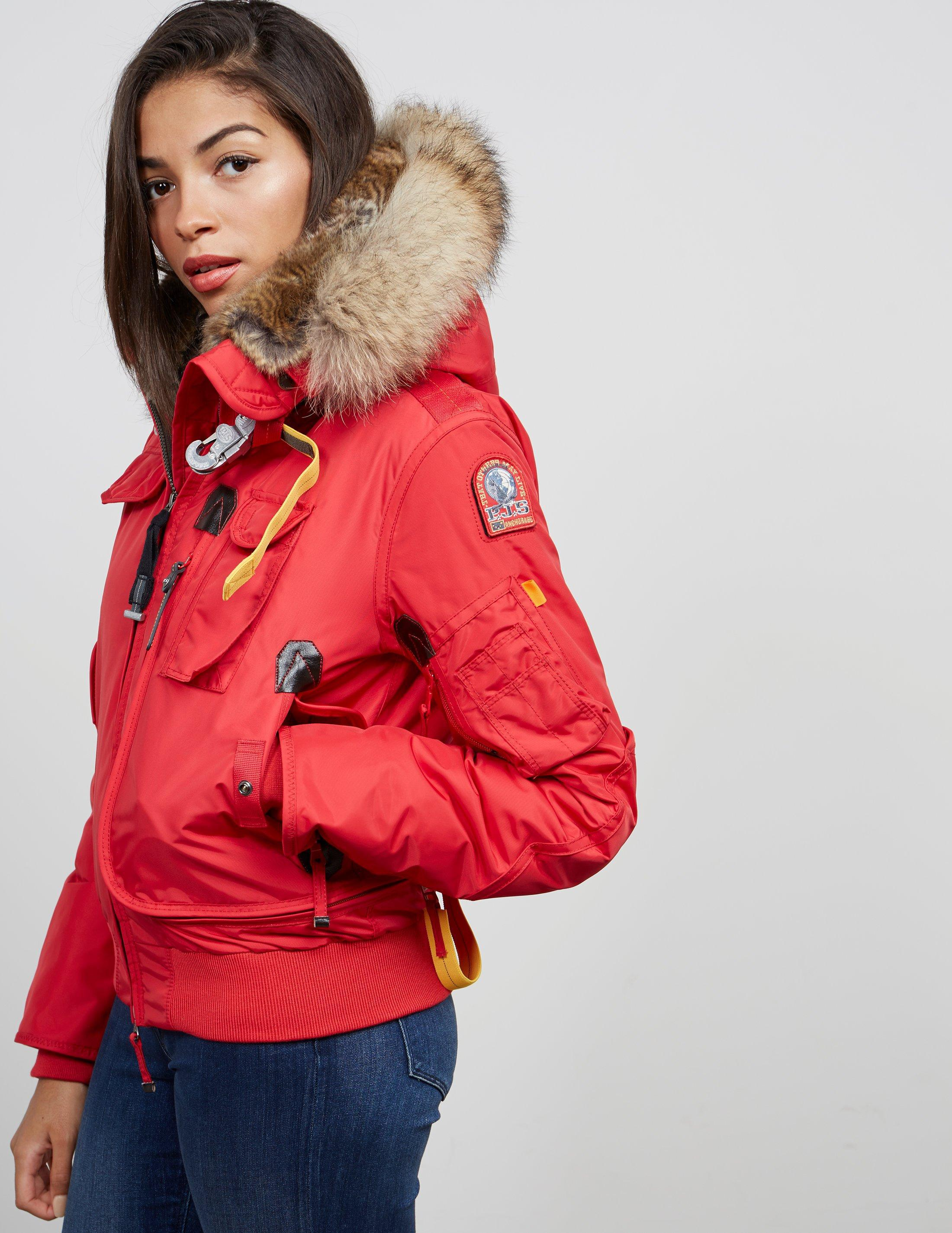 Parajumpers. Womens Gobi Padded Bomber Jacket Red