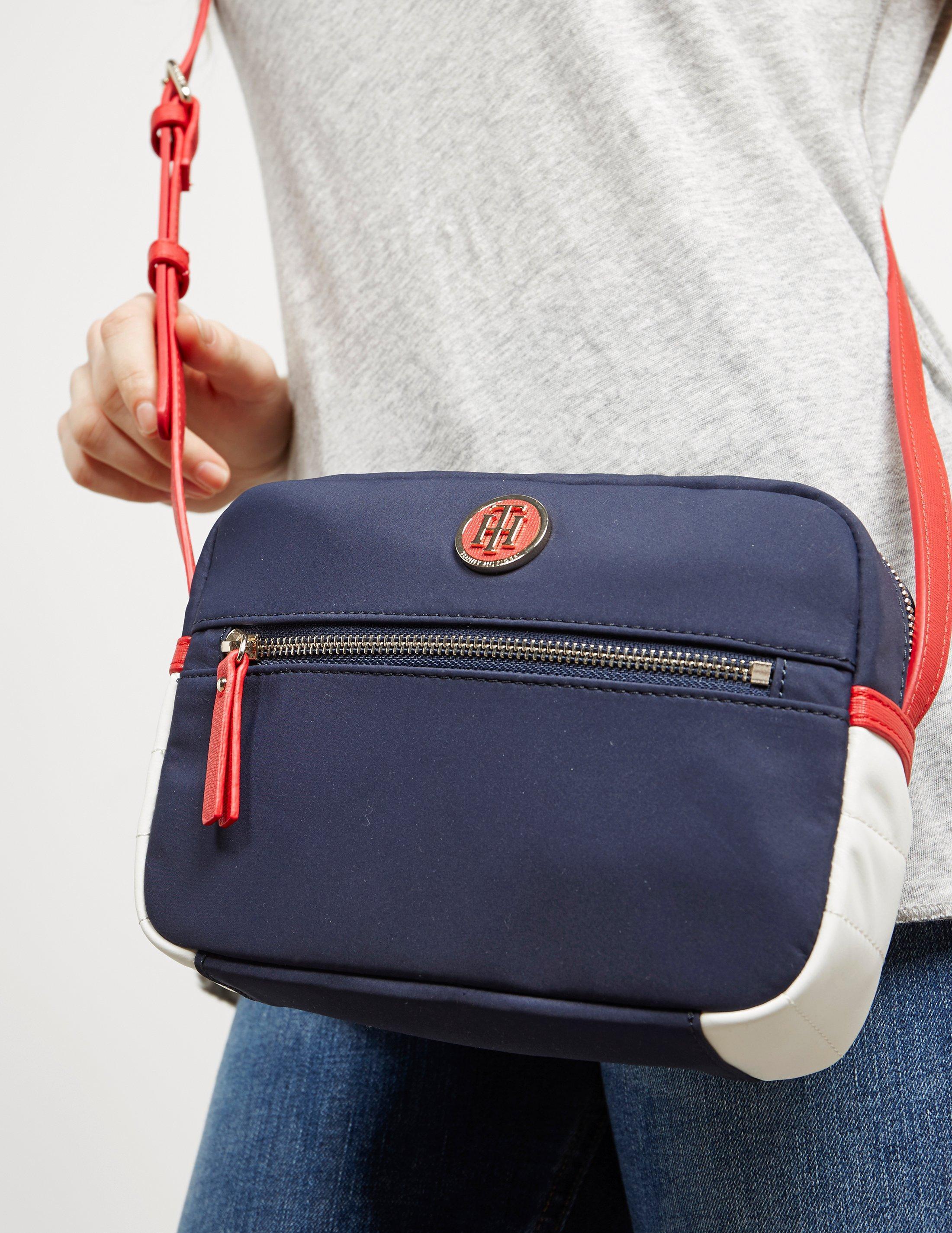 a8fb156c98ca Lyst - Tommy Hilfiger Womens Nylon Crossbody Bag Navy Blue in Blue