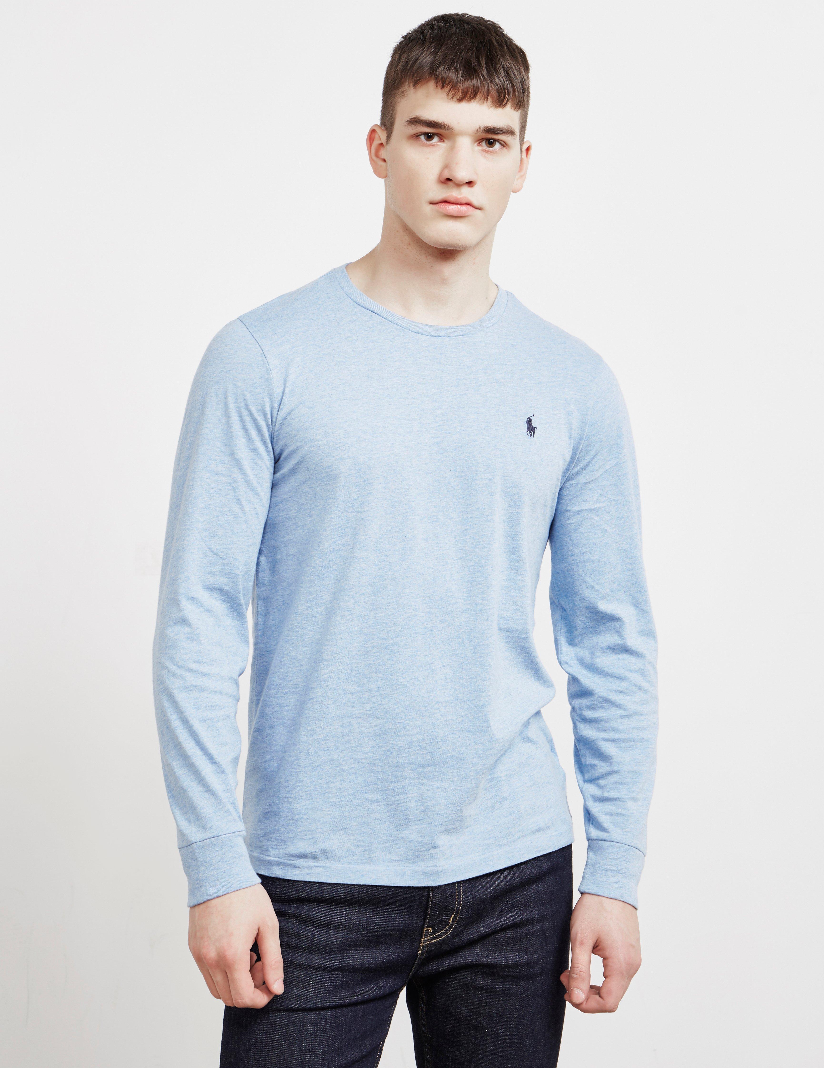 50a8ff9f7 Lyst - Polo Ralph Lauren Basic Long Sleeve T-shirt Blue in Blue for Men