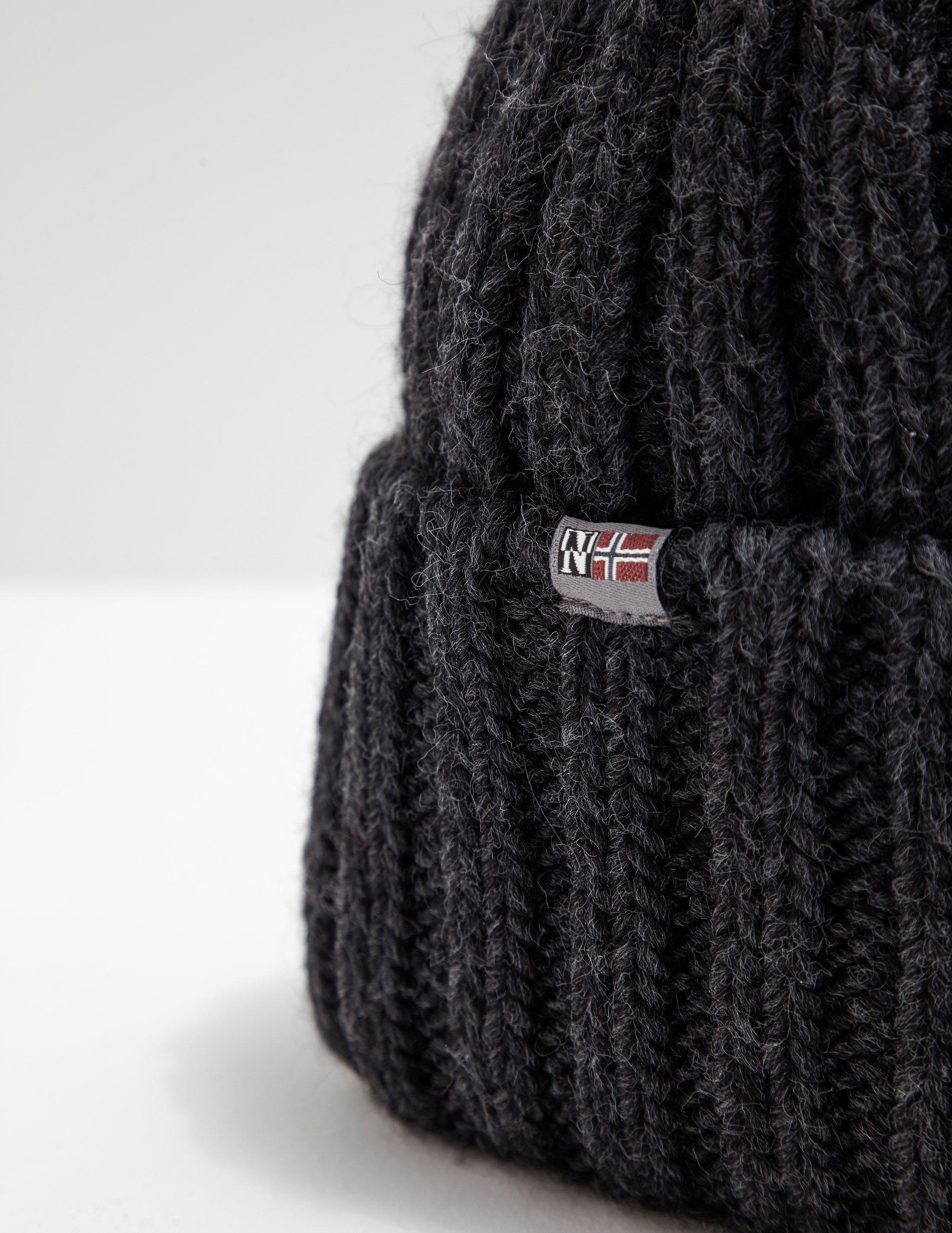 b8edbab21b0 Lyst - Napapijri Mens Semiury Bobble Hat Grey in Gray for Men