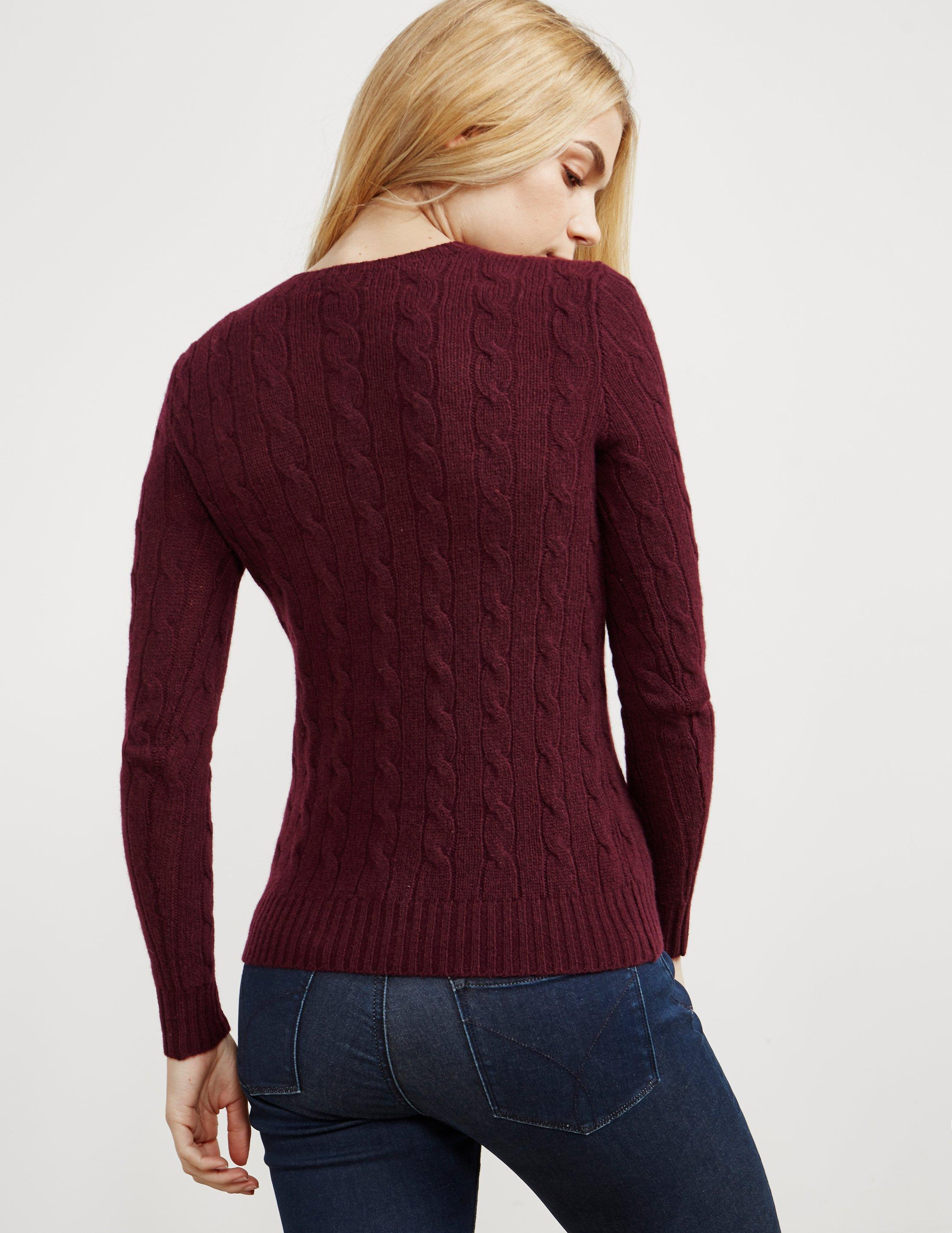 704437450d6e Lyst - Polo Ralph Lauren Womens Juliana Knitted Jumper Red in Red