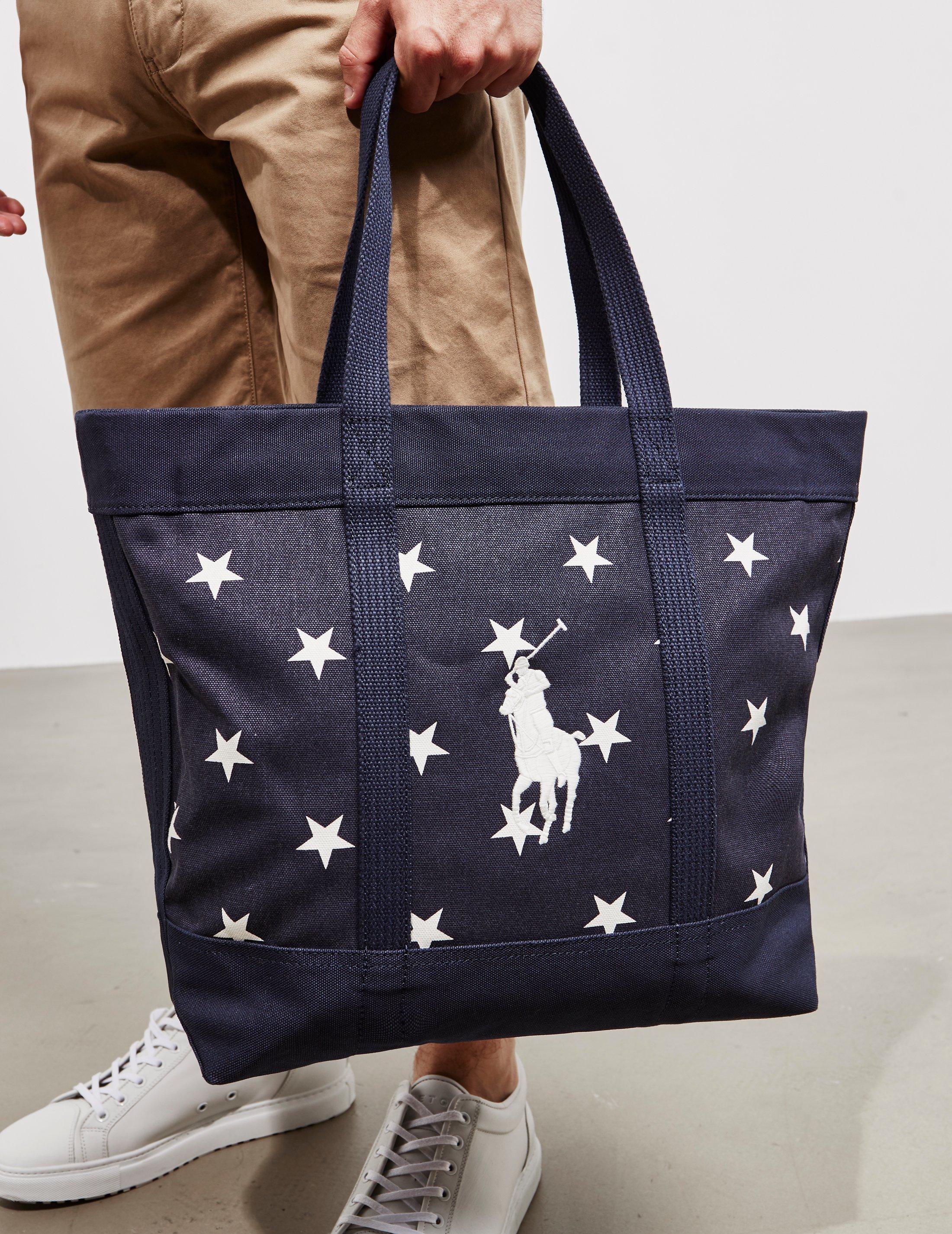 abf91de30df4 Polo Ralph Lauren Mens Stars Tote Bag - Online Exclusive Navy Blue ...