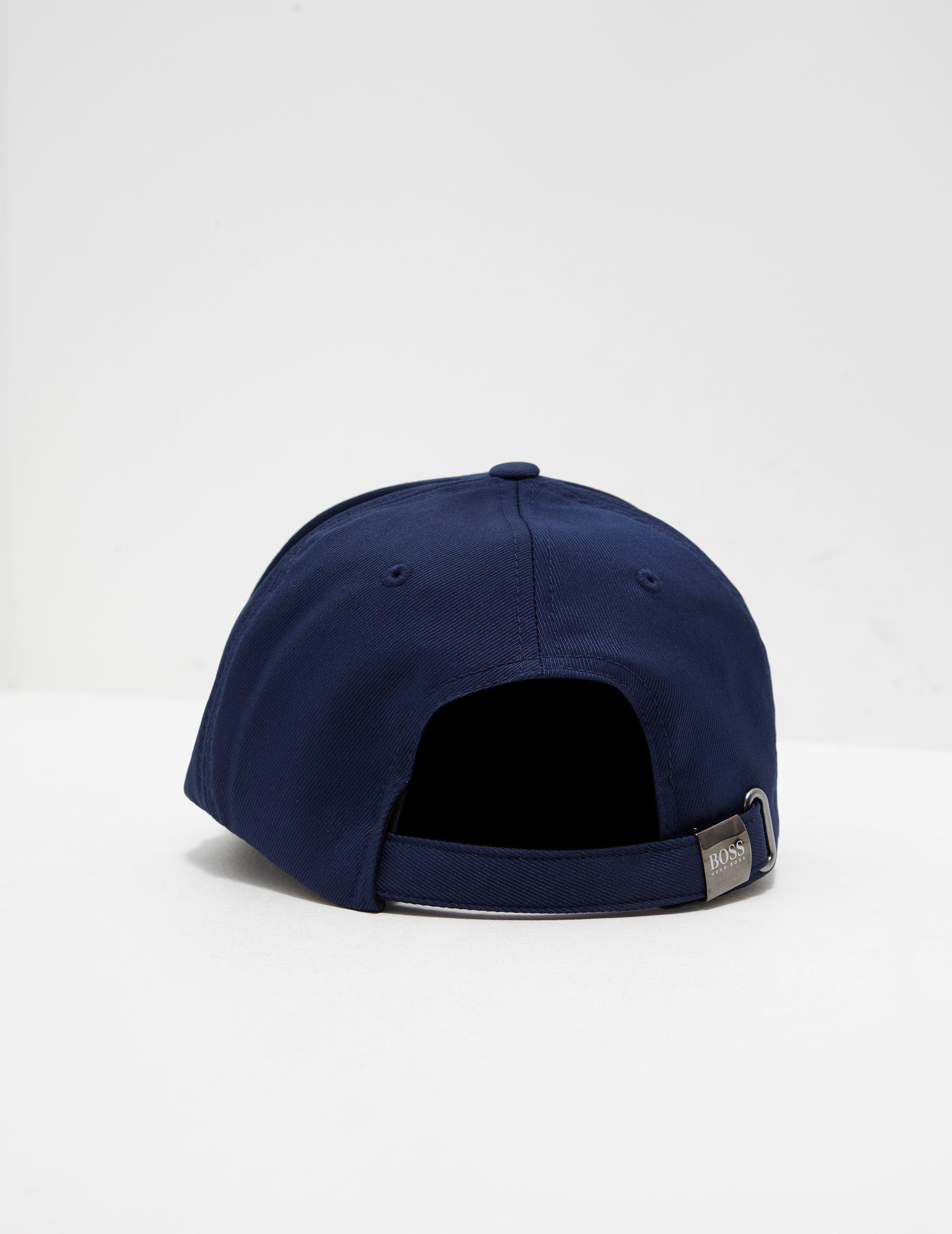 c8914c601 BOSS Mens Layer Logo Cap Navy Blue in Blue for Men - Lyst