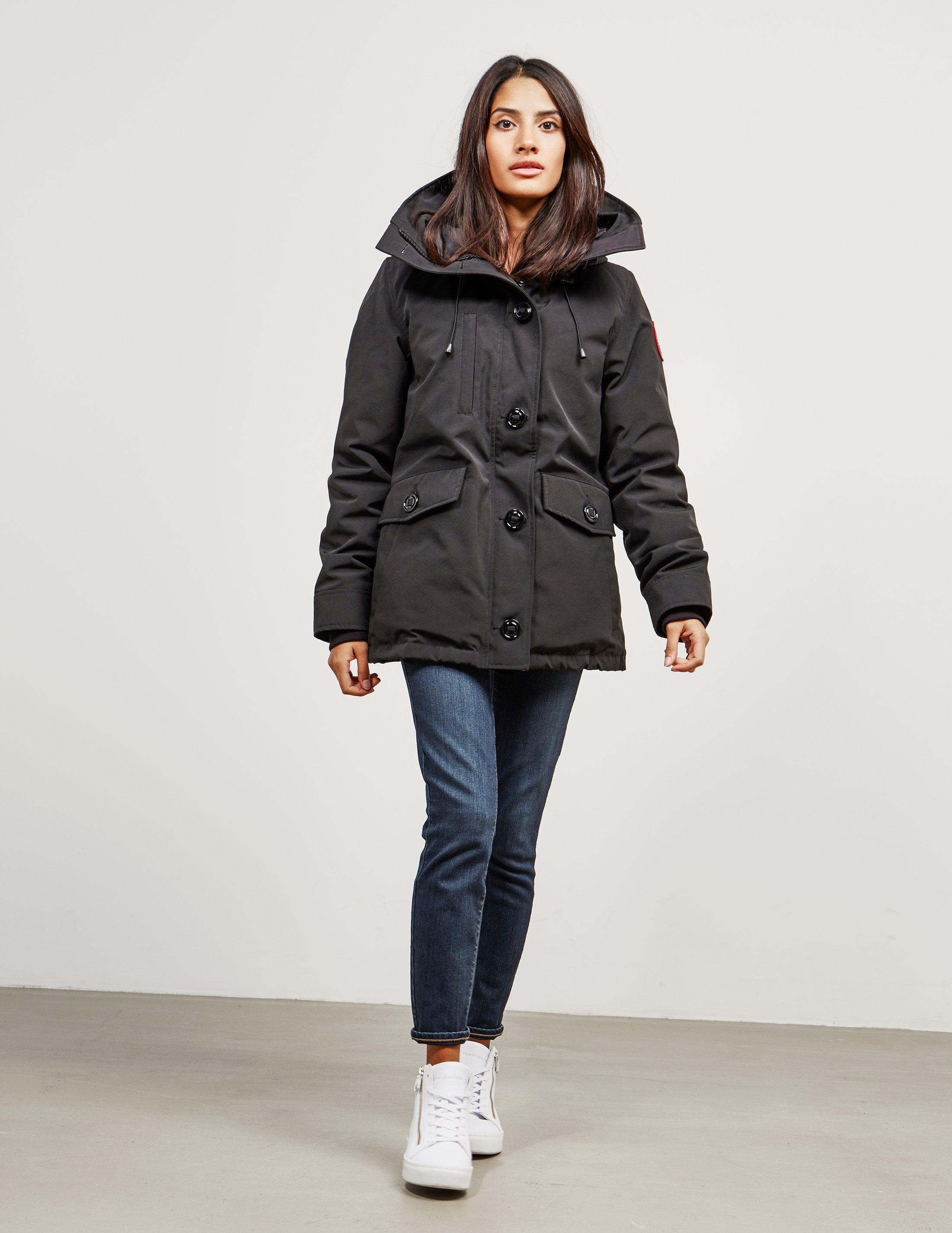 Canada Goose Womens Rideau Padded Parka Jacket Black in Black - Save ...
