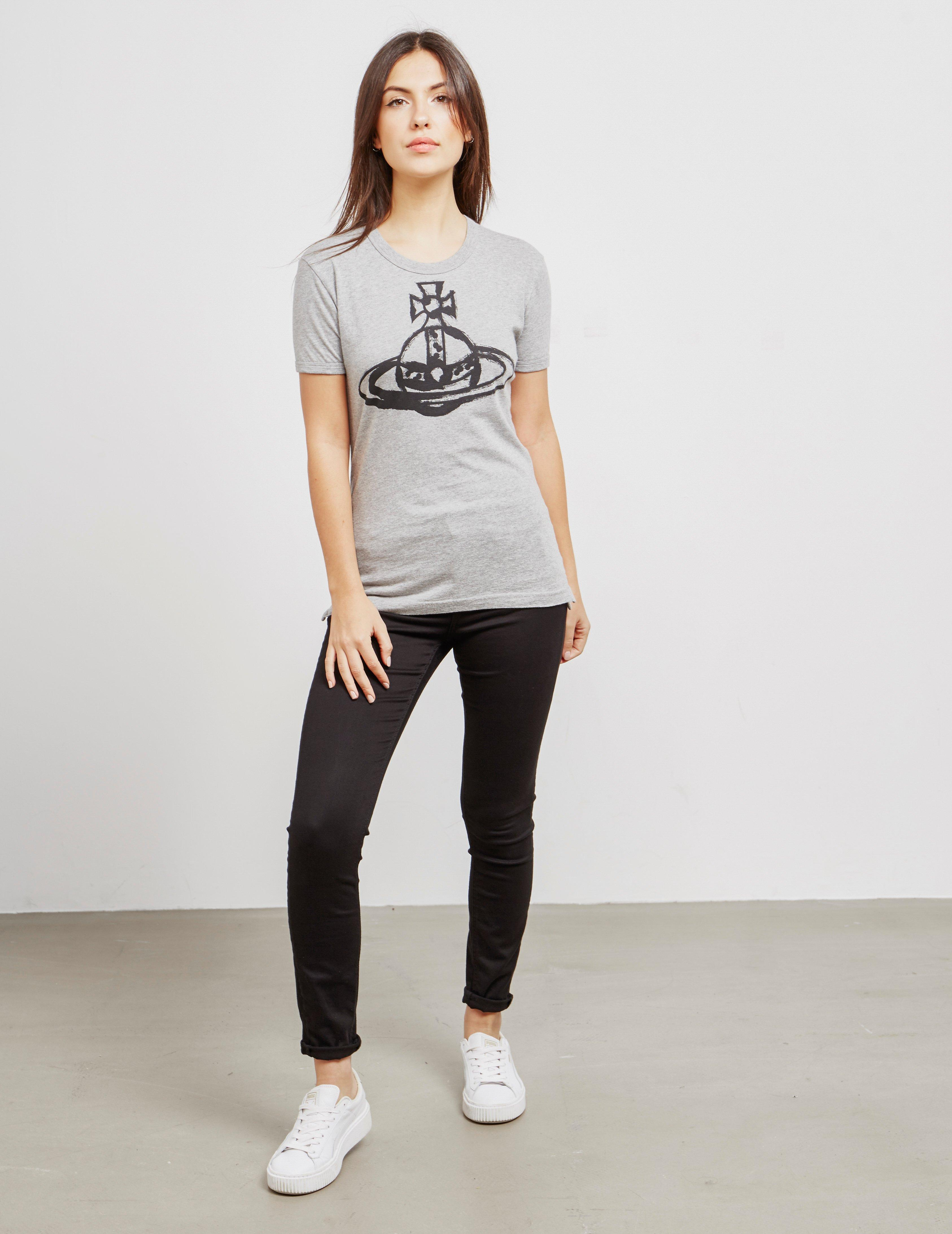 cfc417d9e Vivienne Westwood Anglomania Brush Stroke Short Sleeve T-shirt Grey in Gray  - Lyst