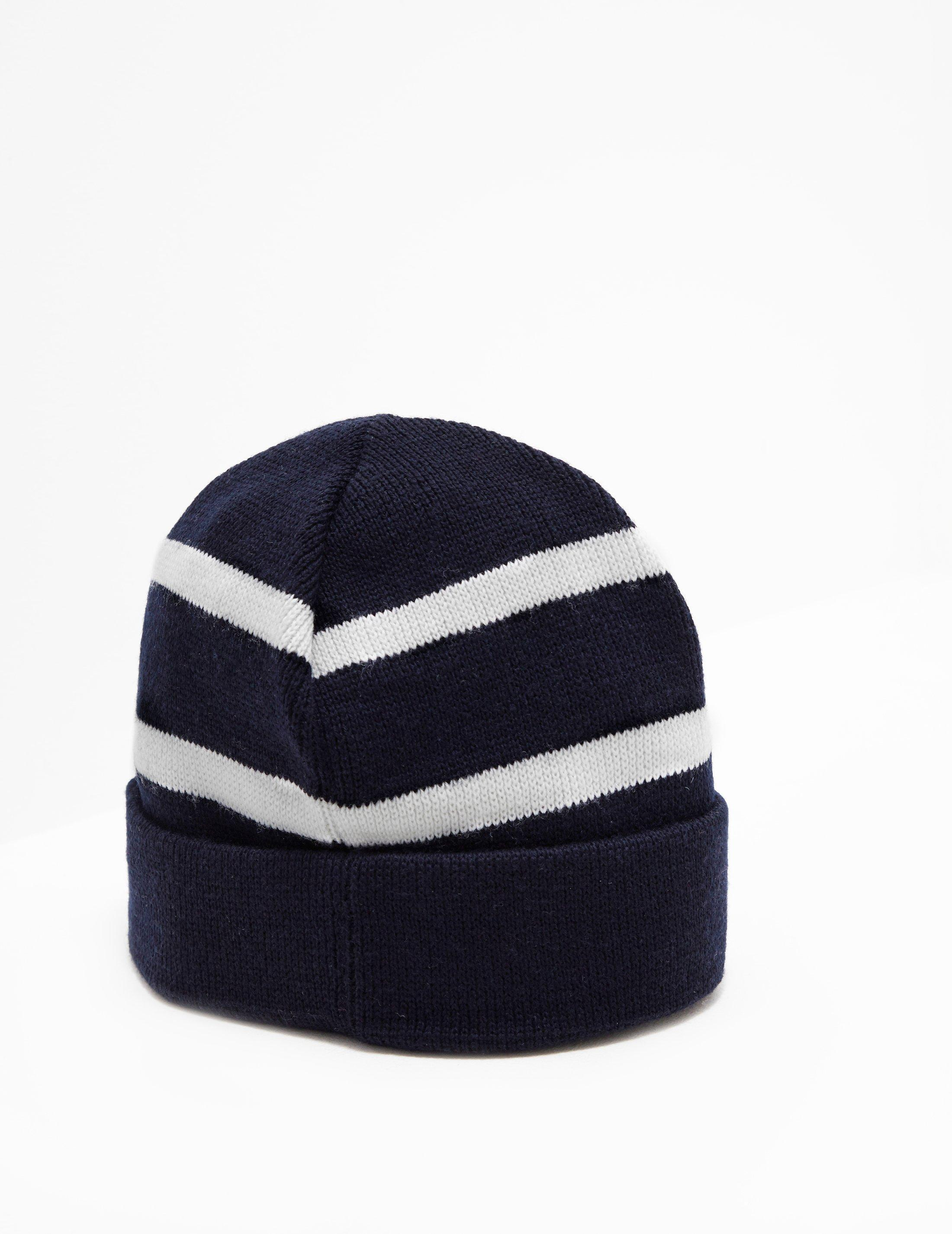 bd6f66d78f2ed Paul   Shark - Stripe Beanie Navy Blue for Men - Lyst. View fullscreen