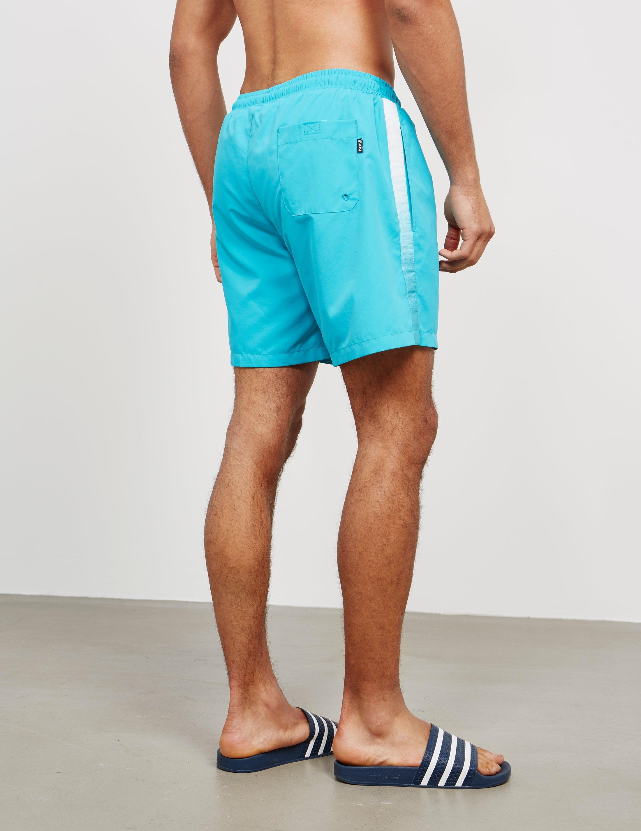 d24b39a43e46f Lyst - Boss Mens Seabream Swim Shorts Aqua/aqua in Blue for Men