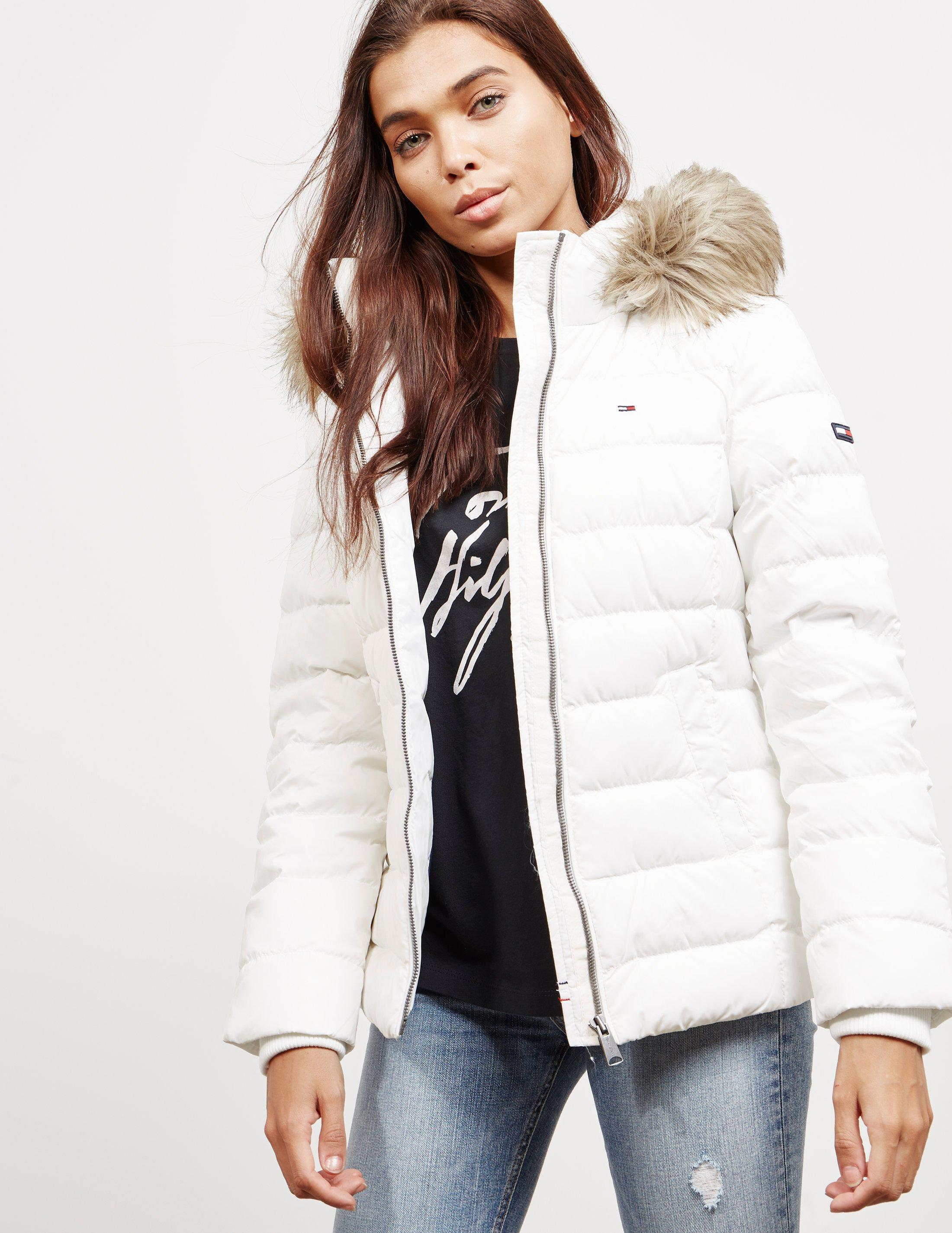 Lyst - Tommy Hilfiger Essential Down Jacket White in White 6a50d1c3ef