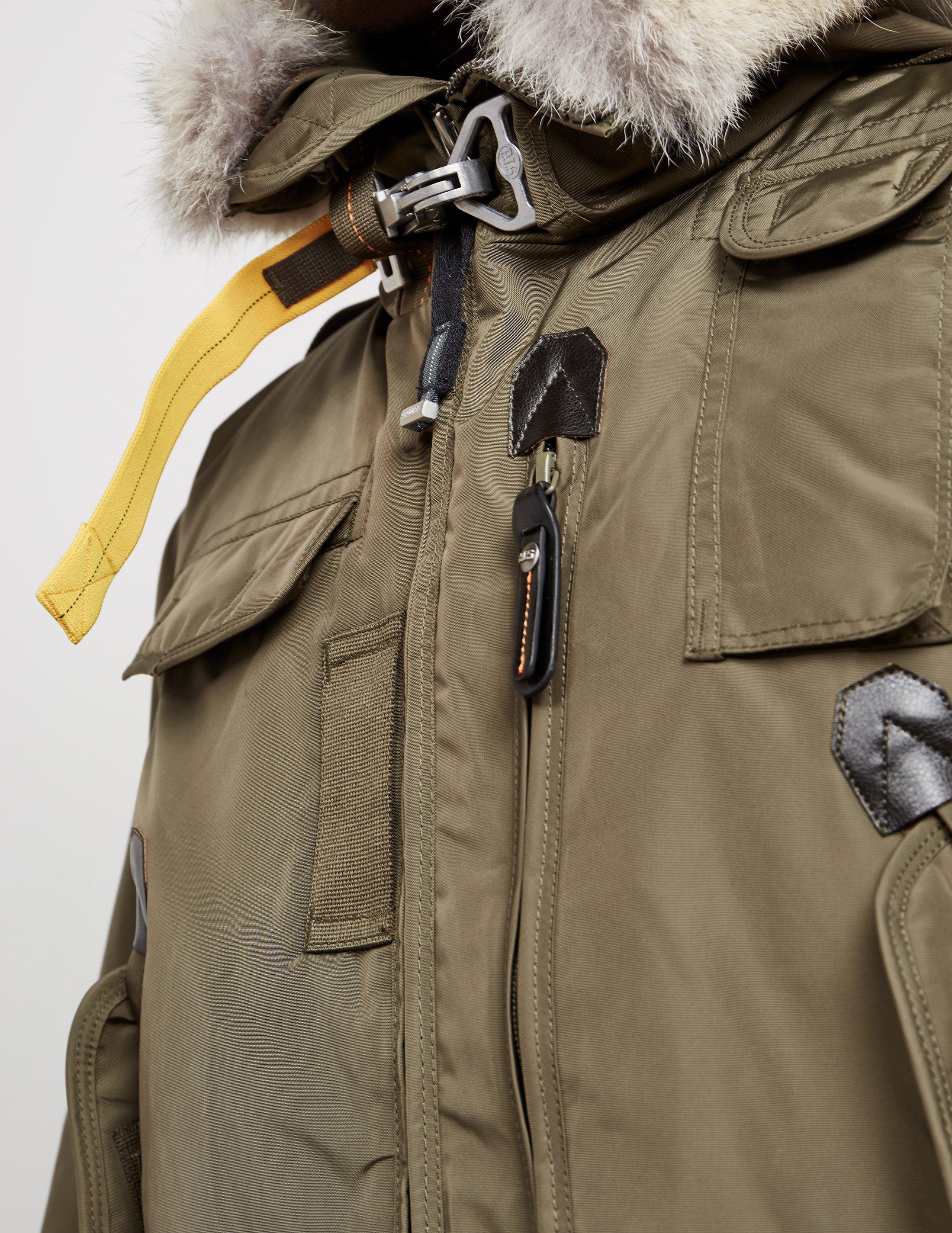... parajumpers mens gobi padded bomber jacket green for men lyst. view fullscreen